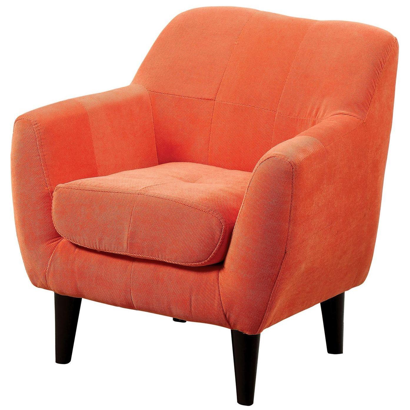 Heidi orange kids chair from furniture of america for Orange kids chair