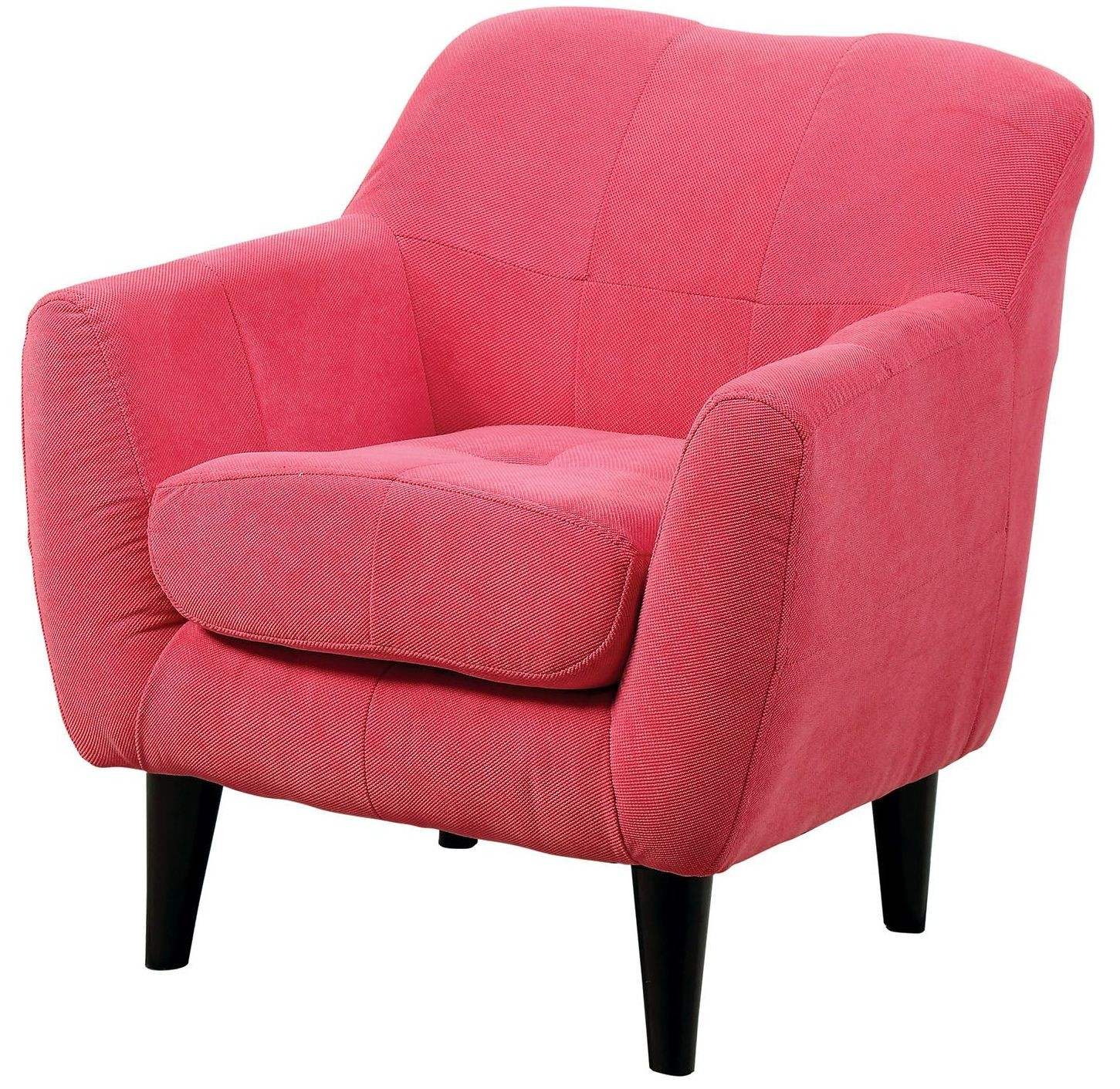 Heidi pink kids chair from furniture of america coleman for Pink kids chair