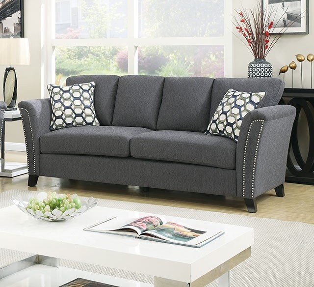 Campbell Gray Sofa From Furniture Of America