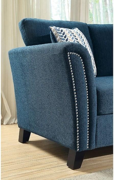Campbell Dark Teal Sofa Cm6095tl Sf Furniture Of America