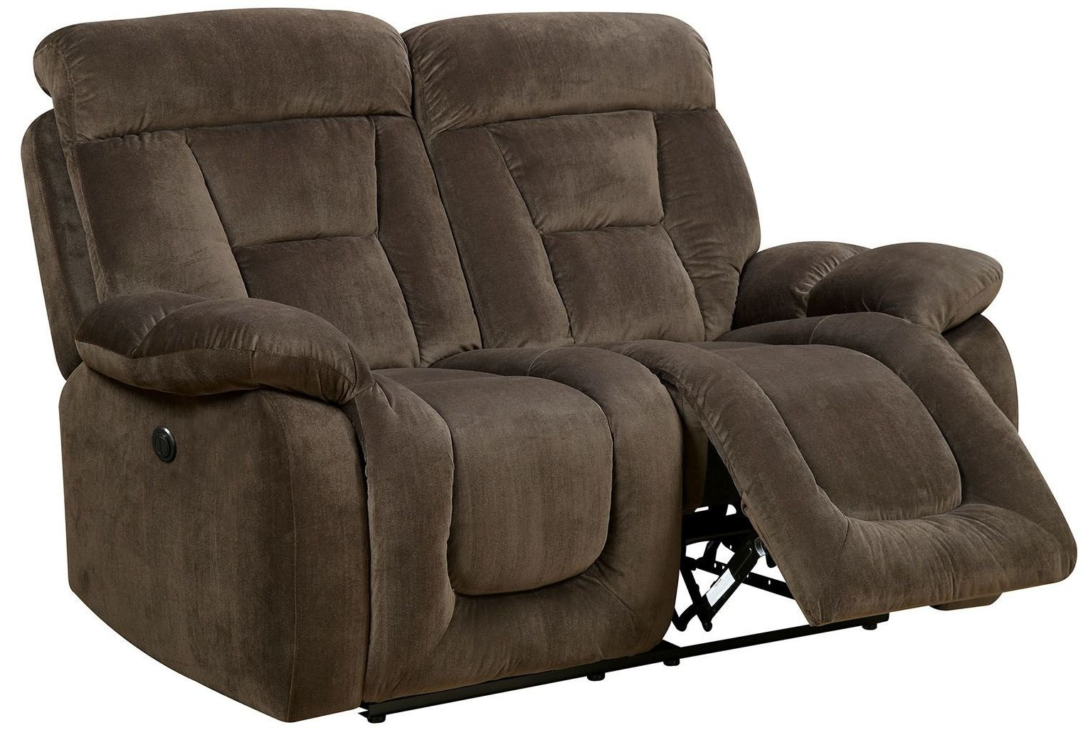Bloomington Brown Power Reclining Loveseat From Furniture Of America Coleman Furniture