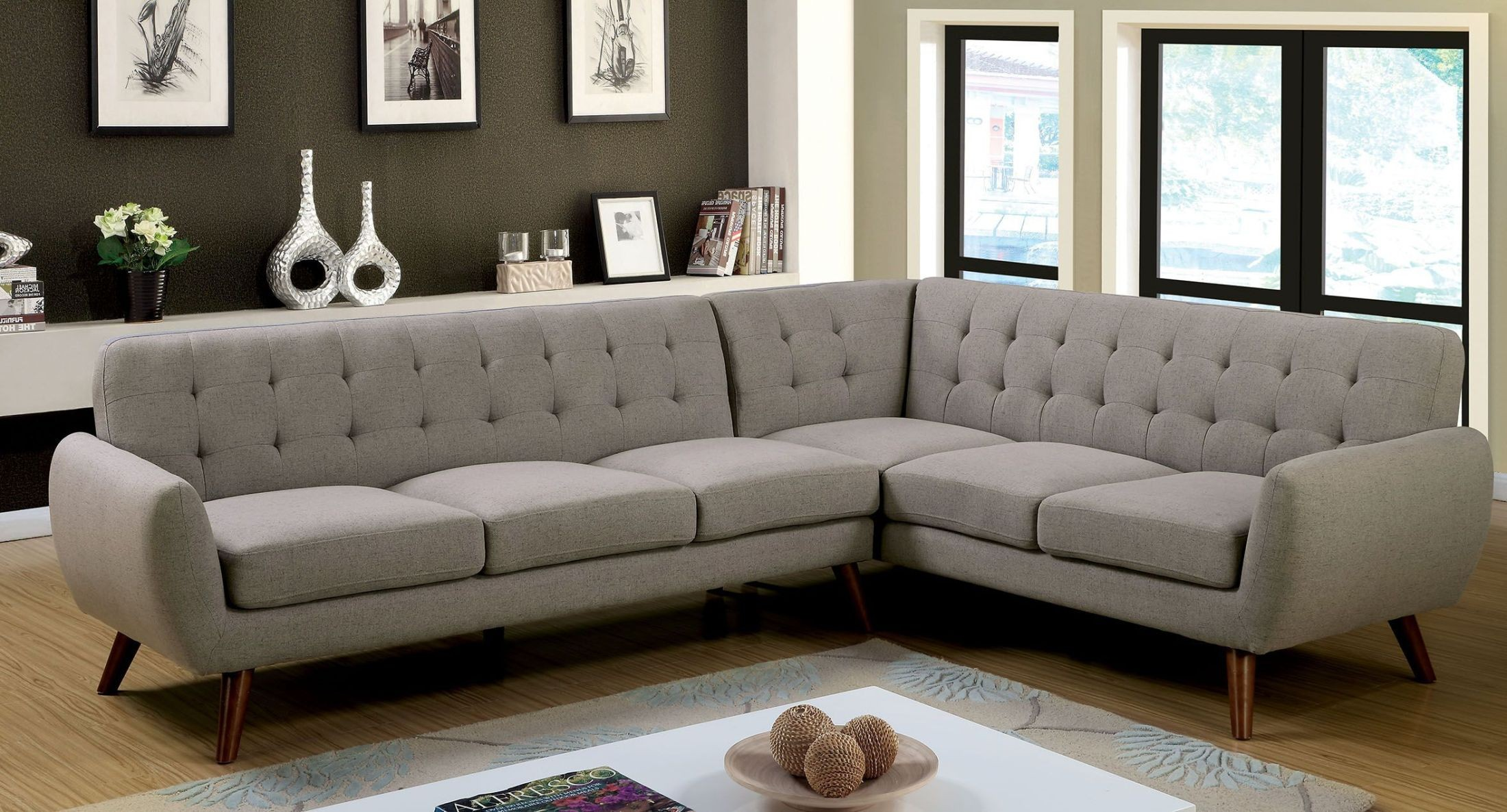 Estee Gray Sectional from Furniture of America