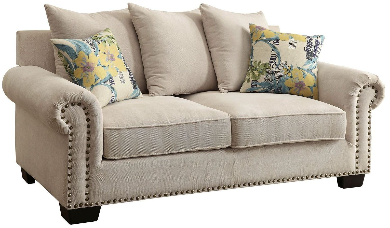 Skyler Ivory Loveseat From Furniture Of America Coleman Furniture