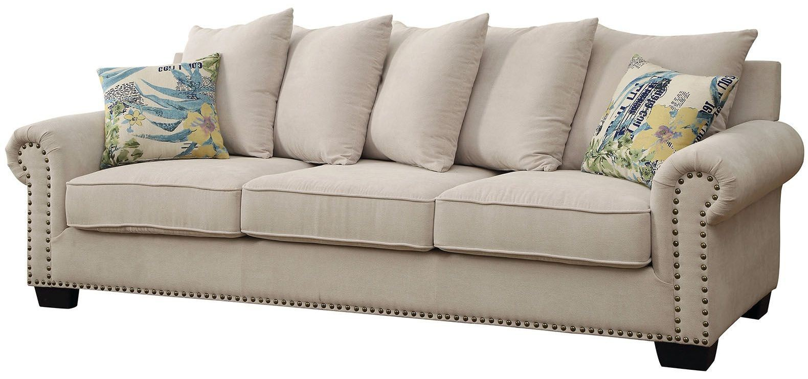 Skyler Ivory Sofa From Furniture Of America Coleman Furniture