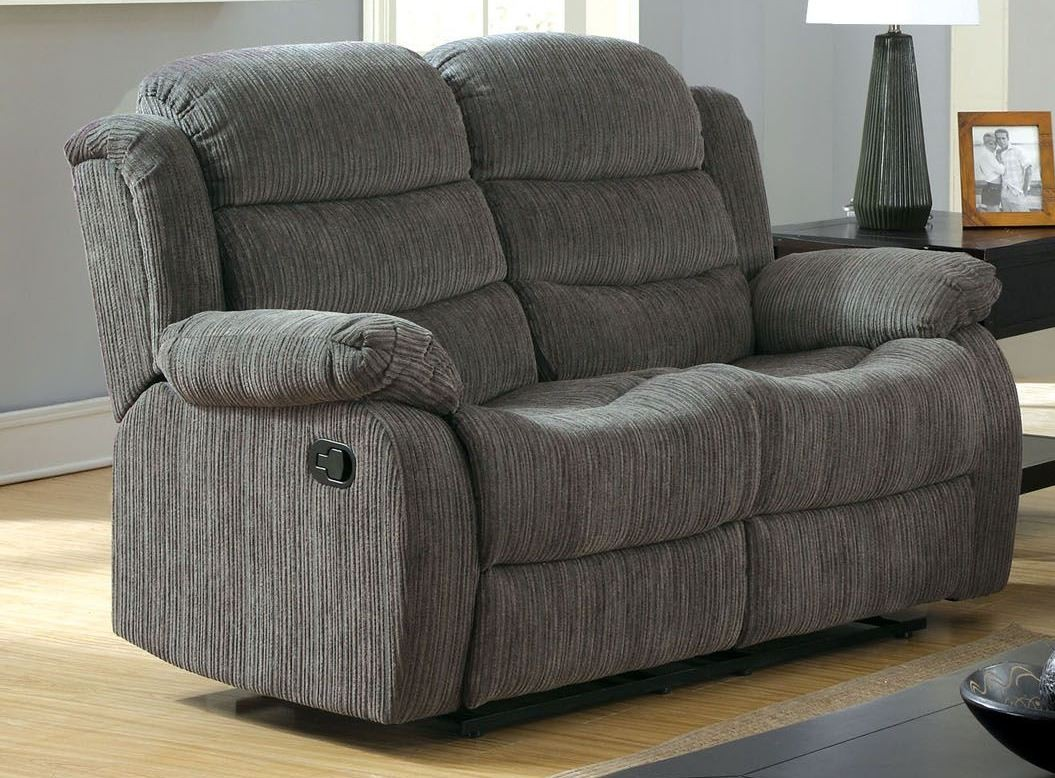 Millville Gray Chenille Reclining Loveseat From Furniture Of America Cm6173gy Lv Coleman