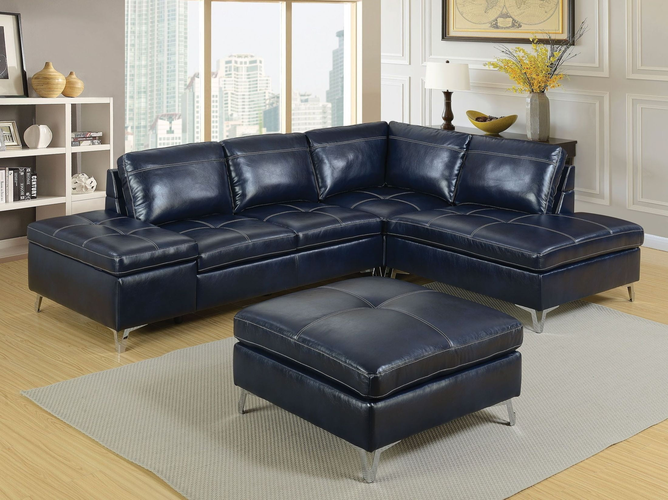 Sadie Blue Sectional from Furniture of