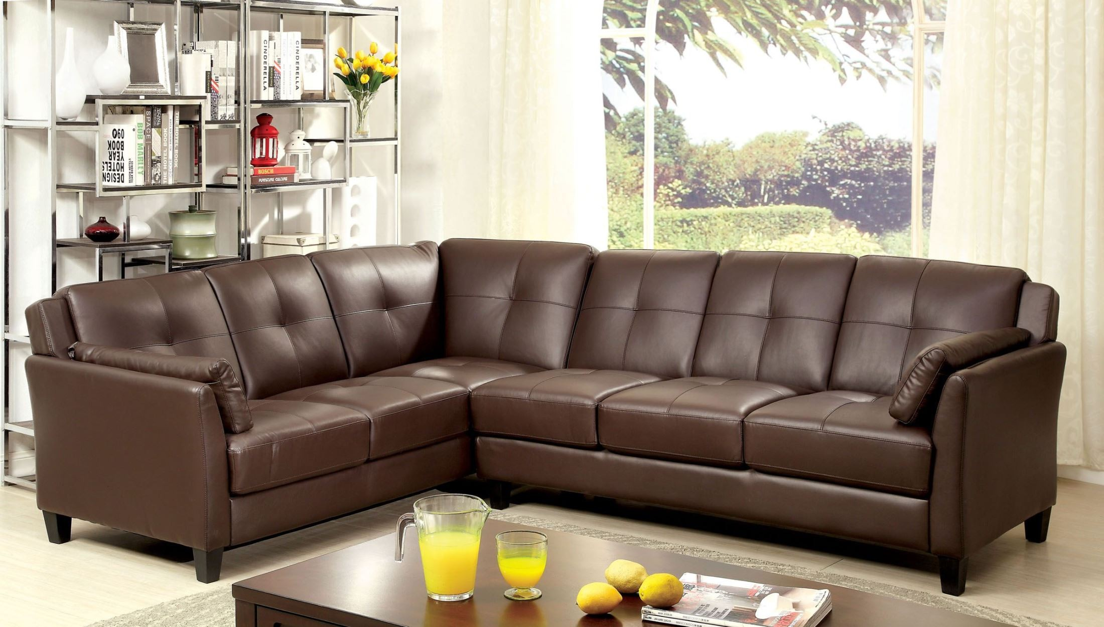 Peever brown sectional 668999
