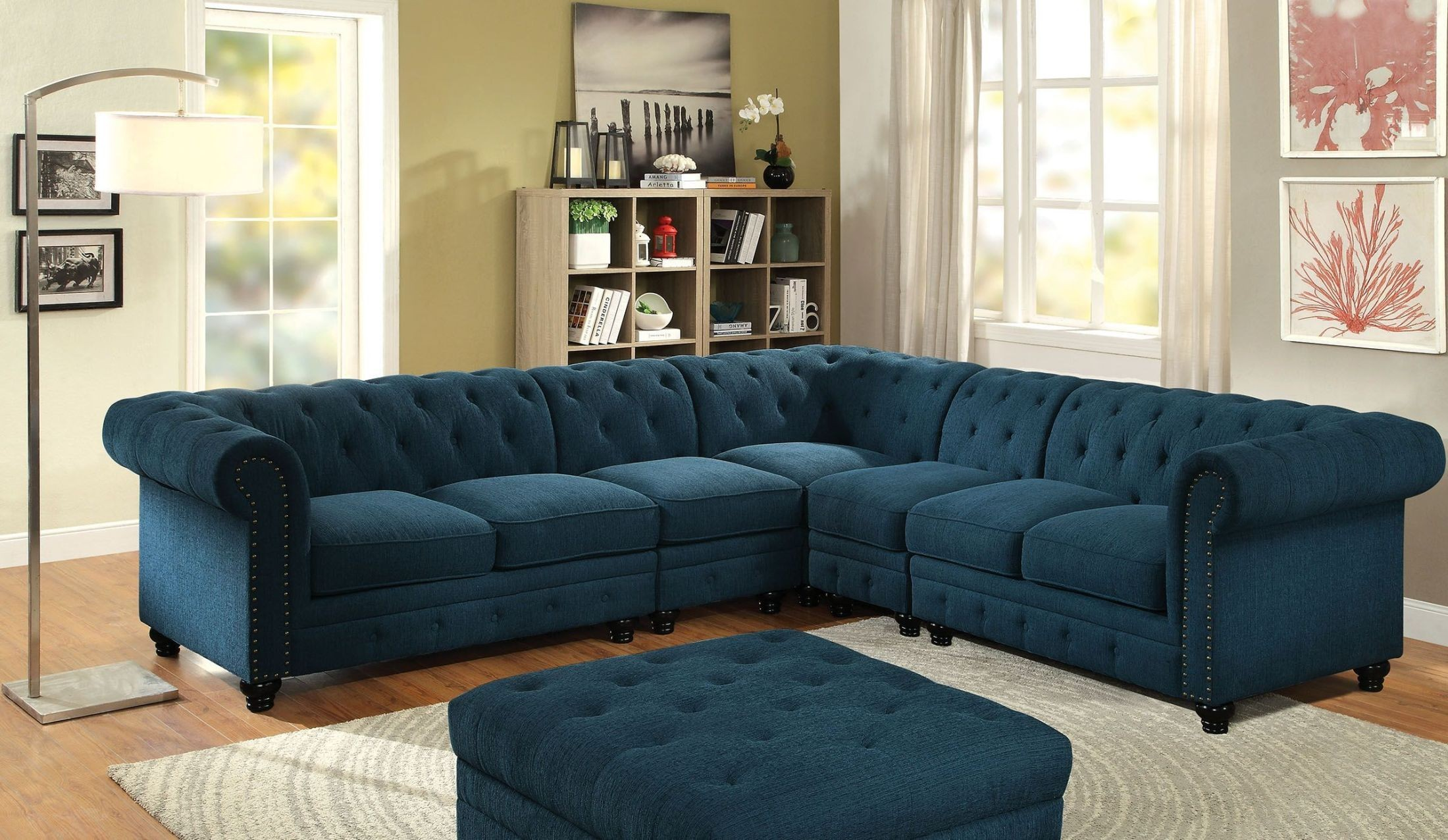 Stanford ii dark teal large sectional 1909192