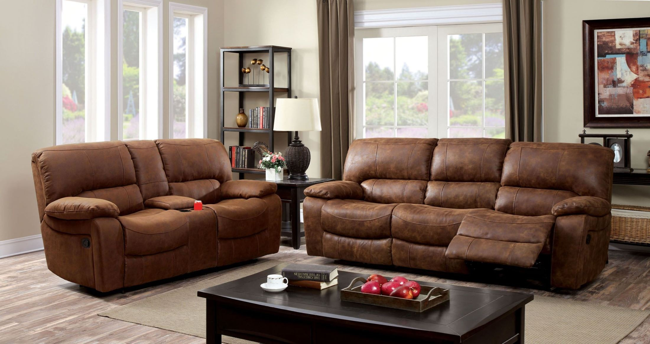 Wagner Leatherette Reclining Living Room Set From Furniture Of America Cm6315 Sf Coleman