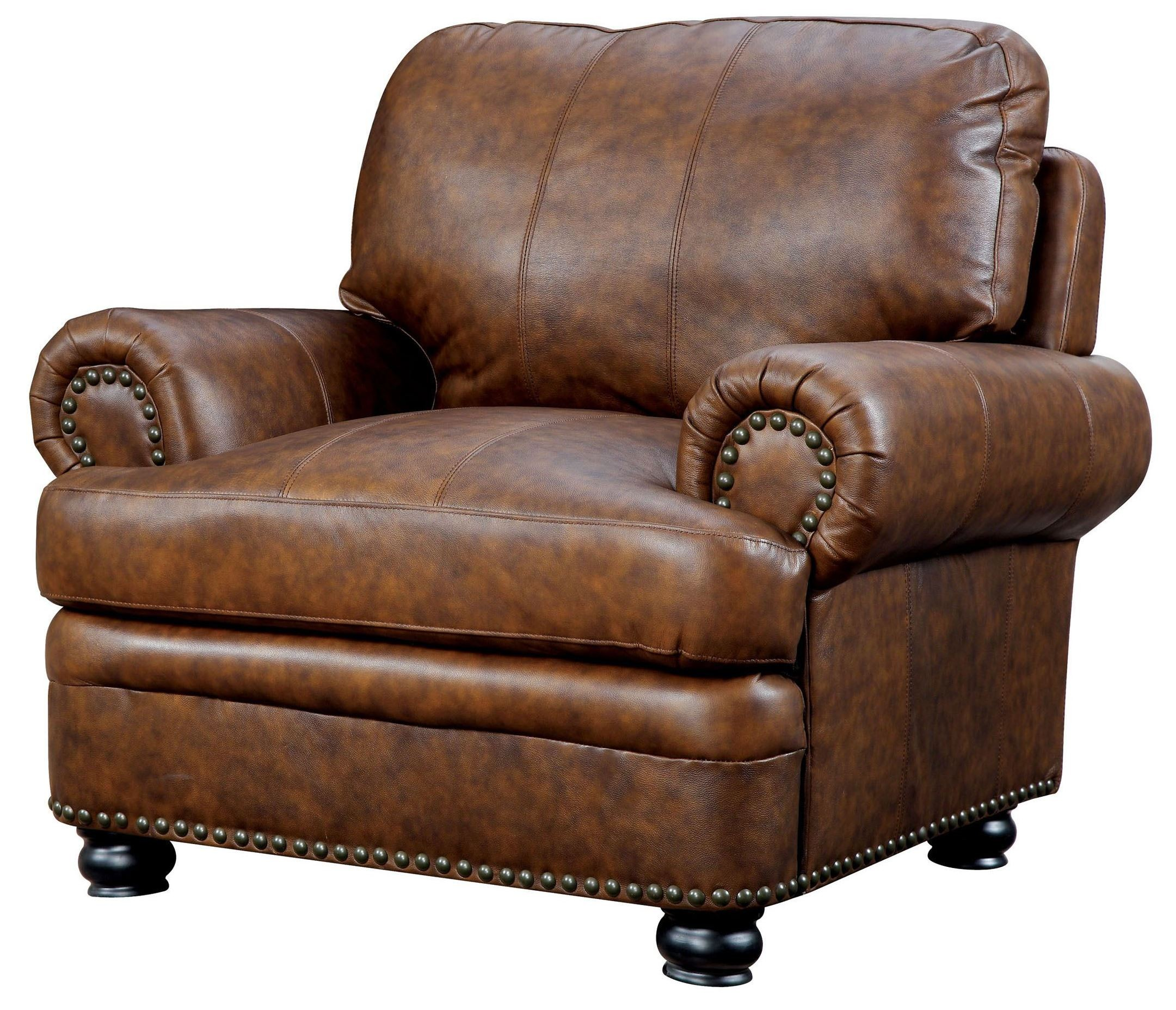 Leather Living Room Set Clearance: Rheinhardt Top Grain Leather Living Room Set From