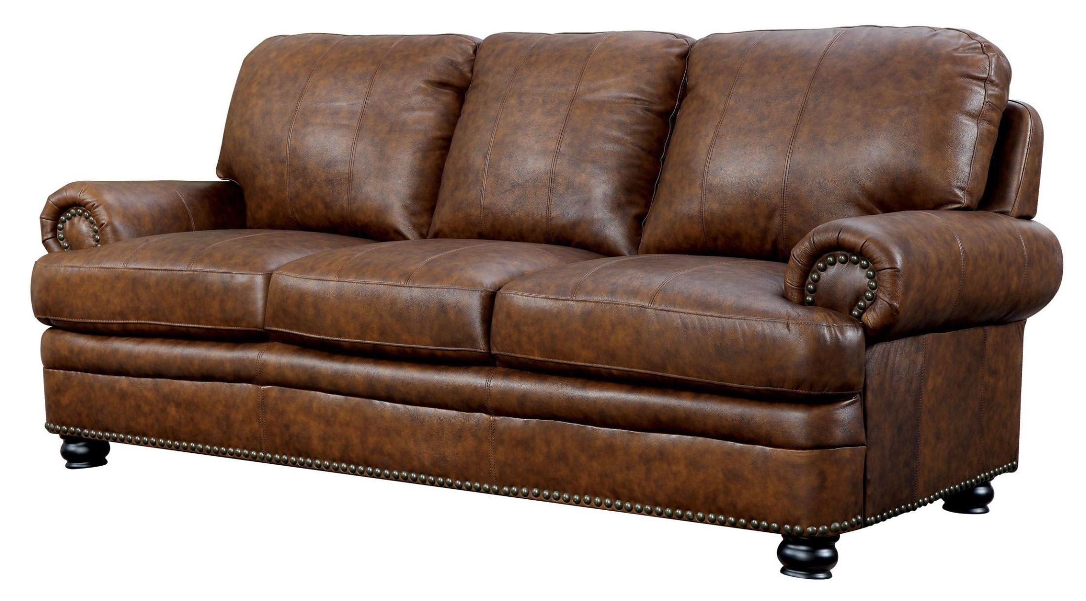 Rheinhardt Top Grain Leather Sofa From Furniture Of