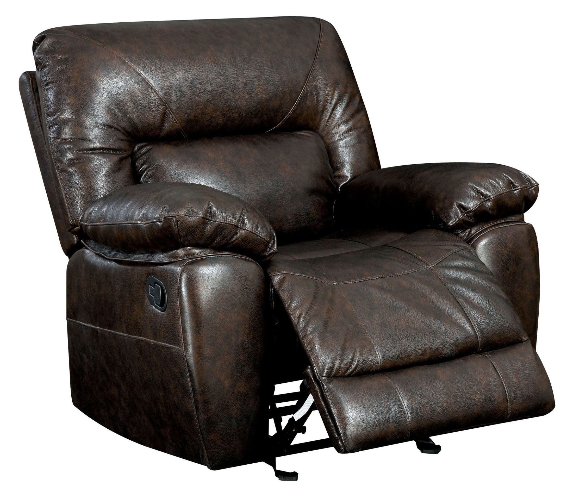 stallion top grain leather match recliner from furniture of america cm6319 ch coleman furniture. Black Bedroom Furniture Sets. Home Design Ideas