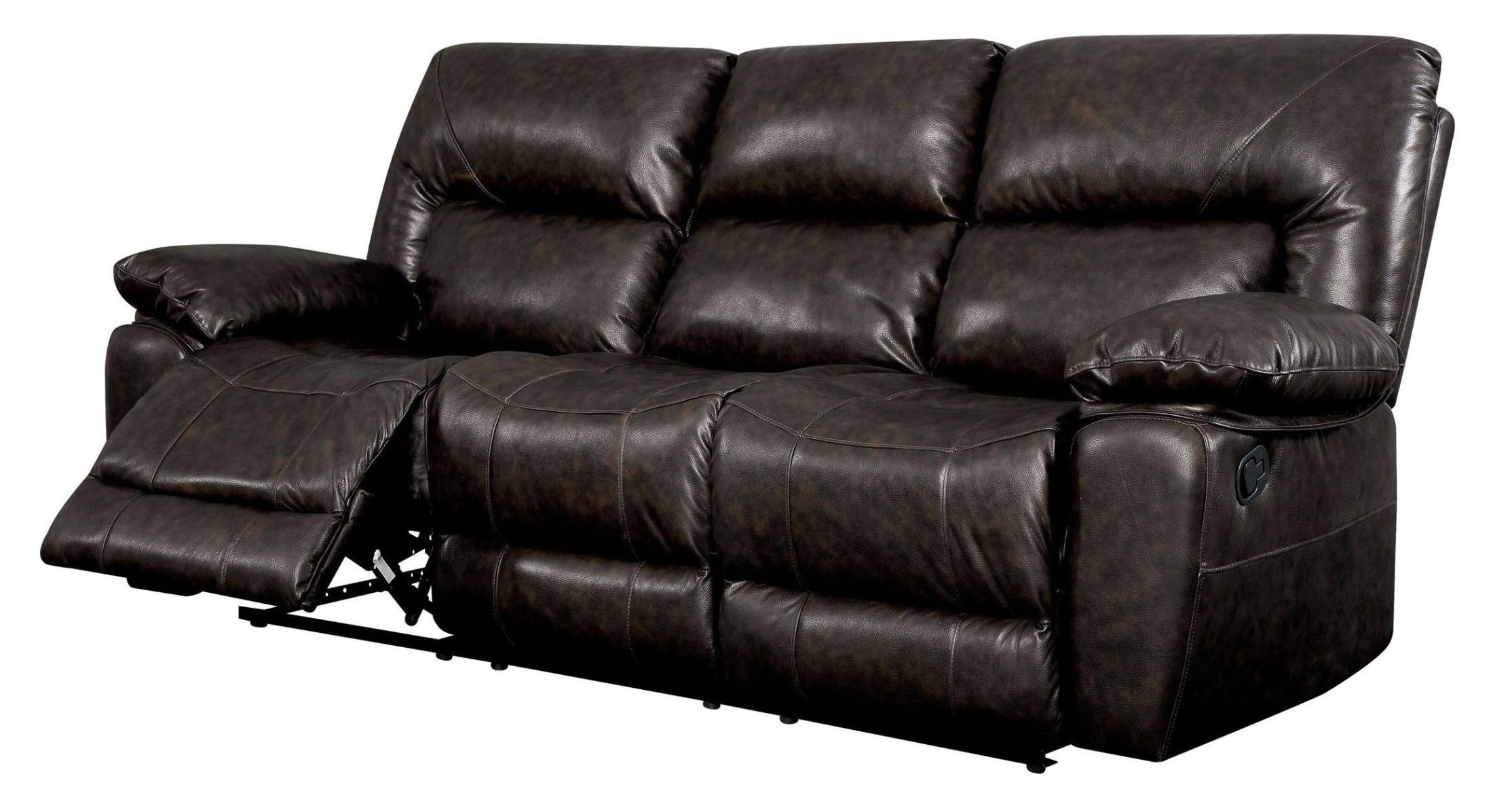 Stallion Top Grain Leather Match Reclining Sofa From