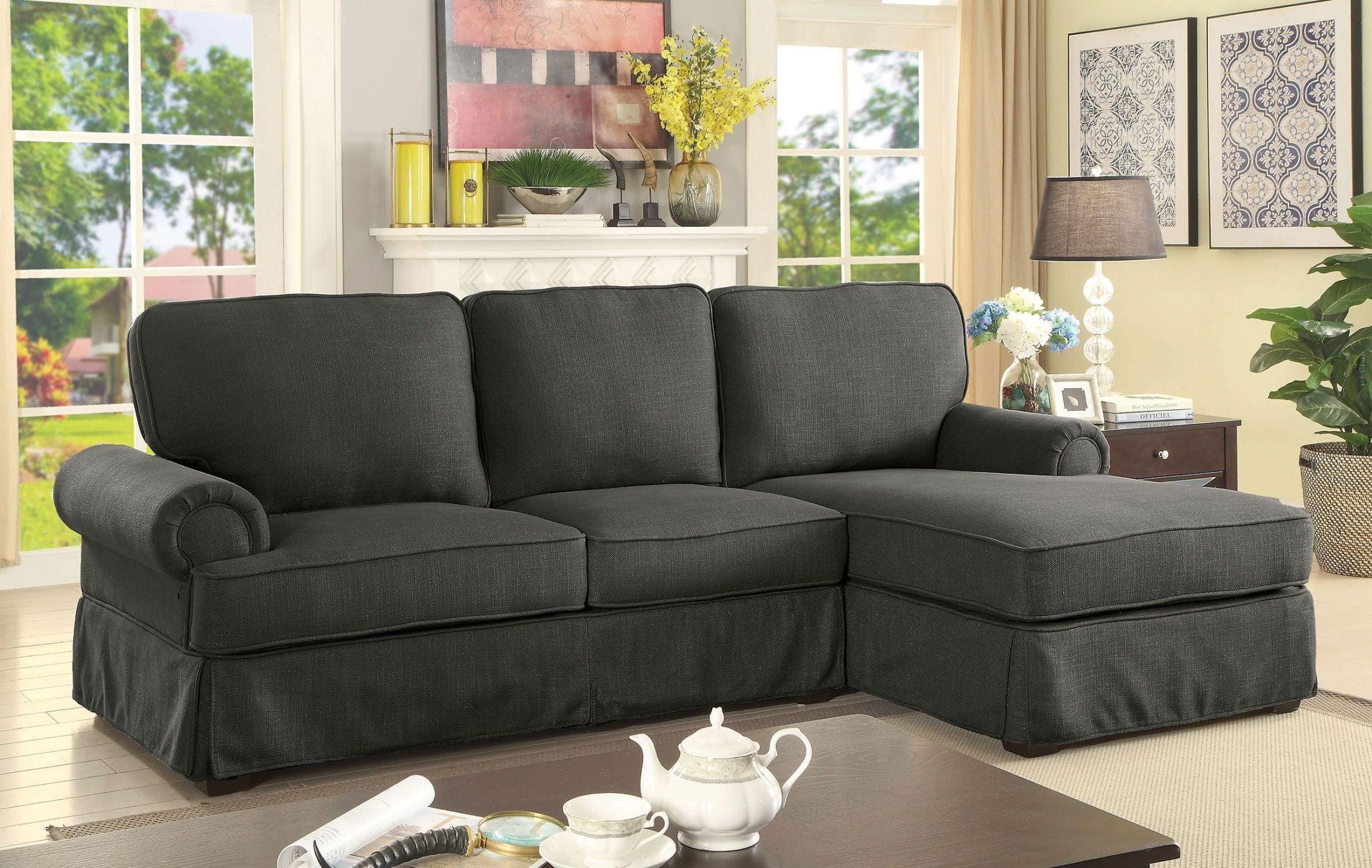 Badalona ii gray fabric sectional 2502104