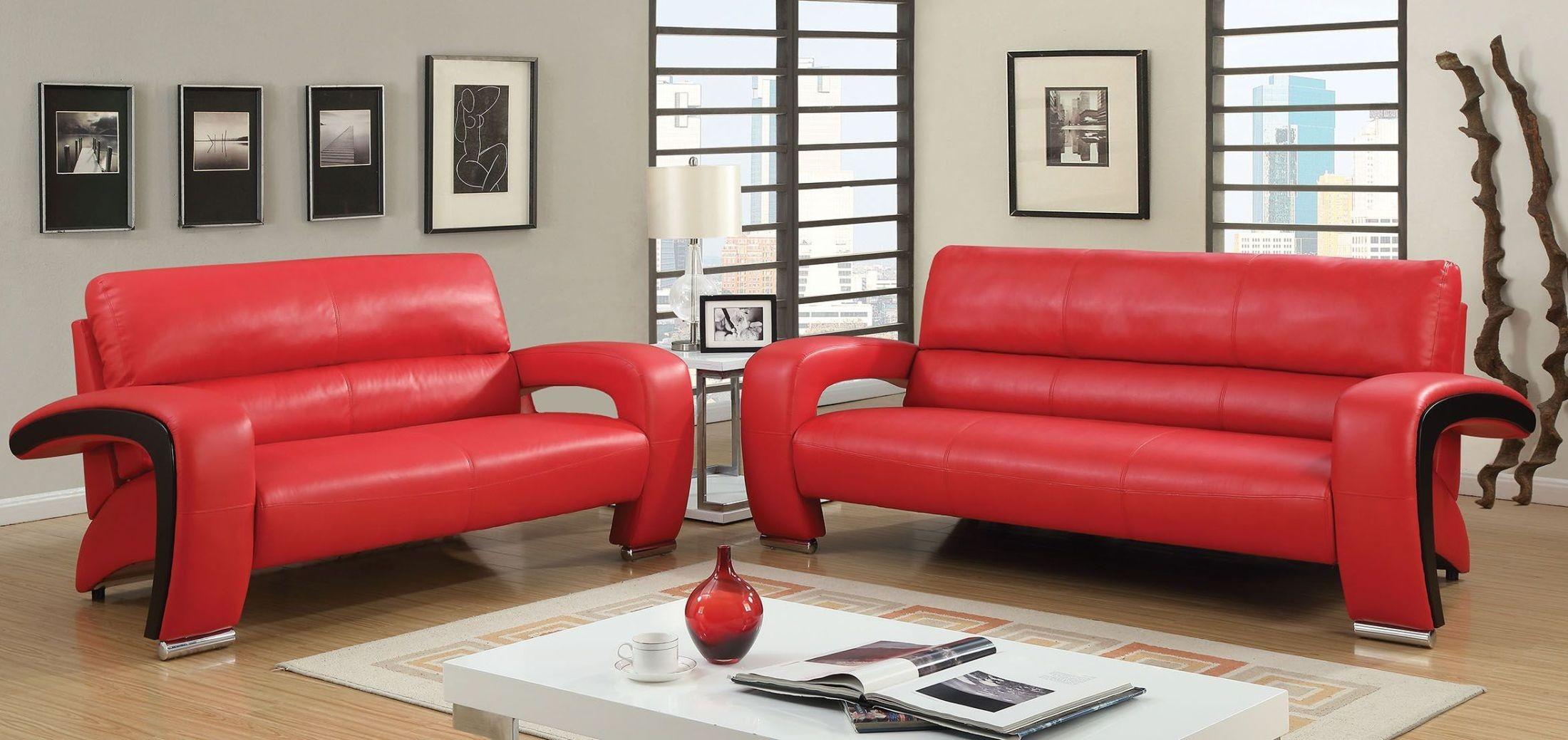 Wezen Red Living Room Set From Furniture Of America Coleman Furniture
