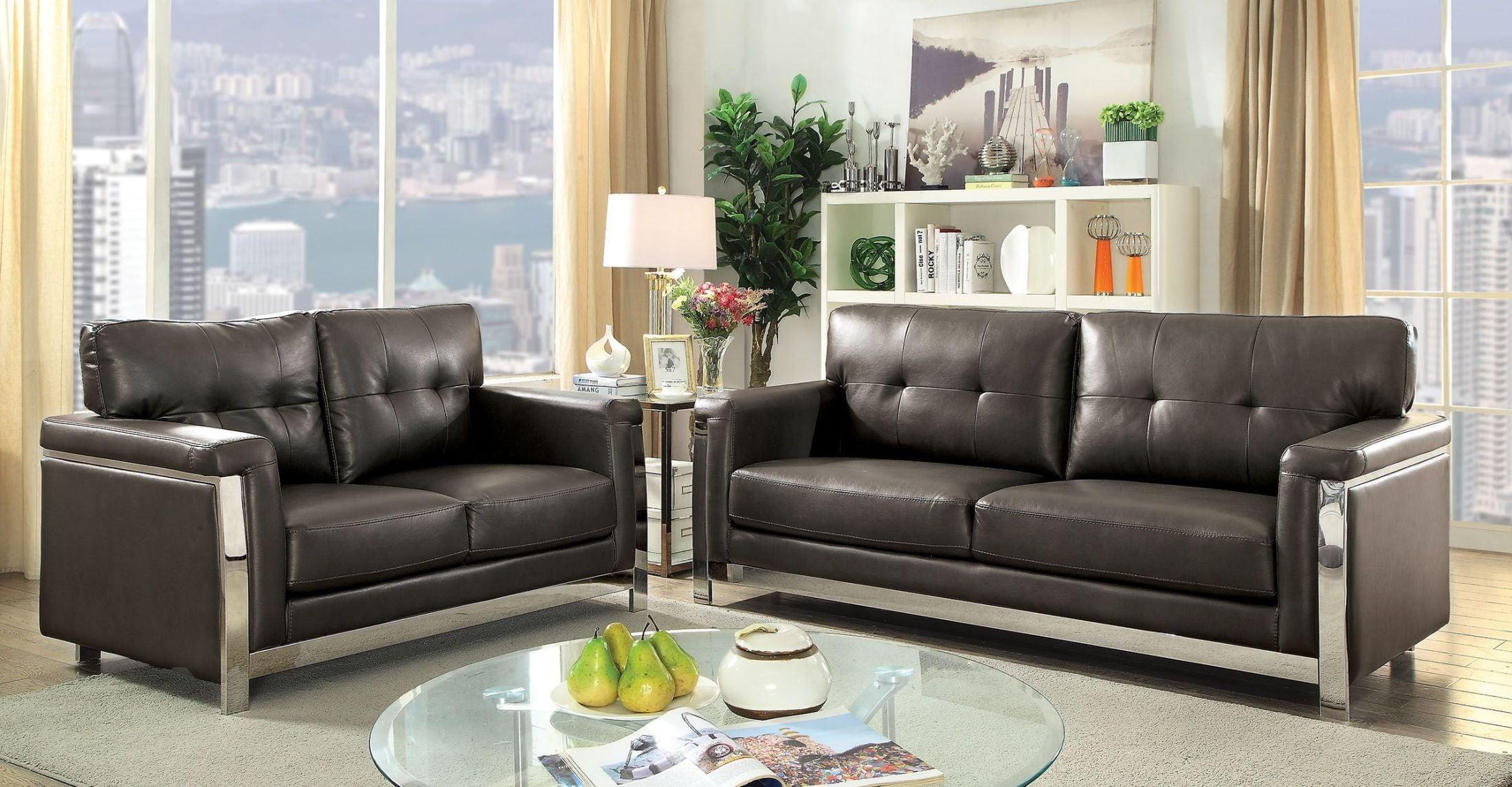 Nanette Gray Living Room Set From Furniture Of America