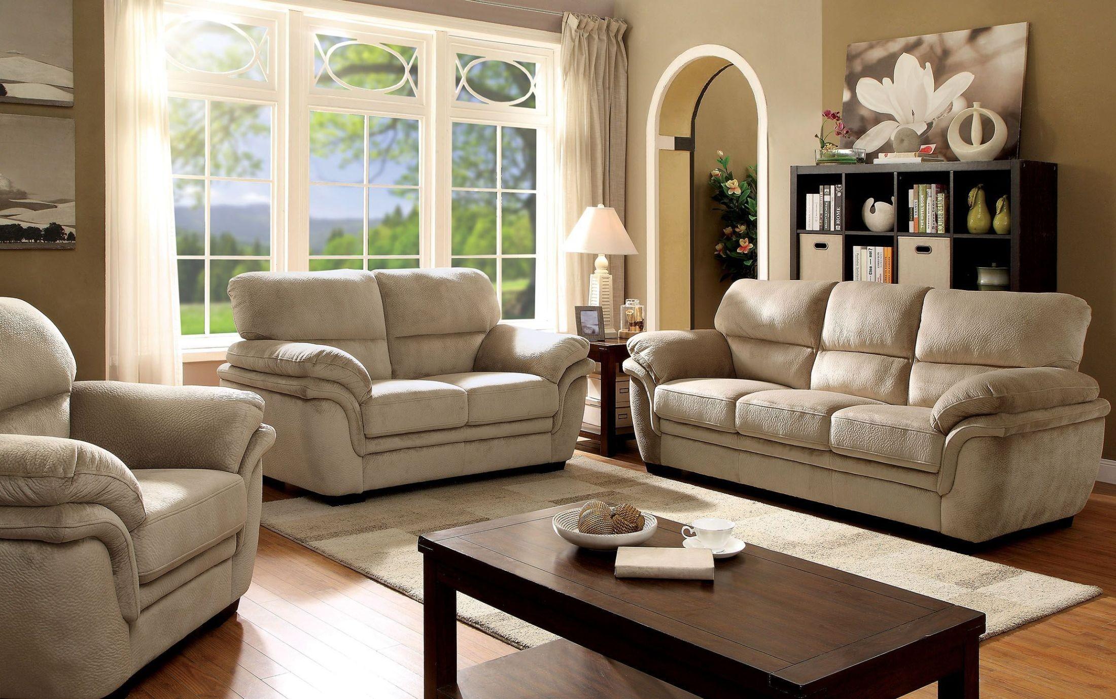 Living Room Furniture Sets: Jaya Light Brown Living Room Set From Furniture Of America