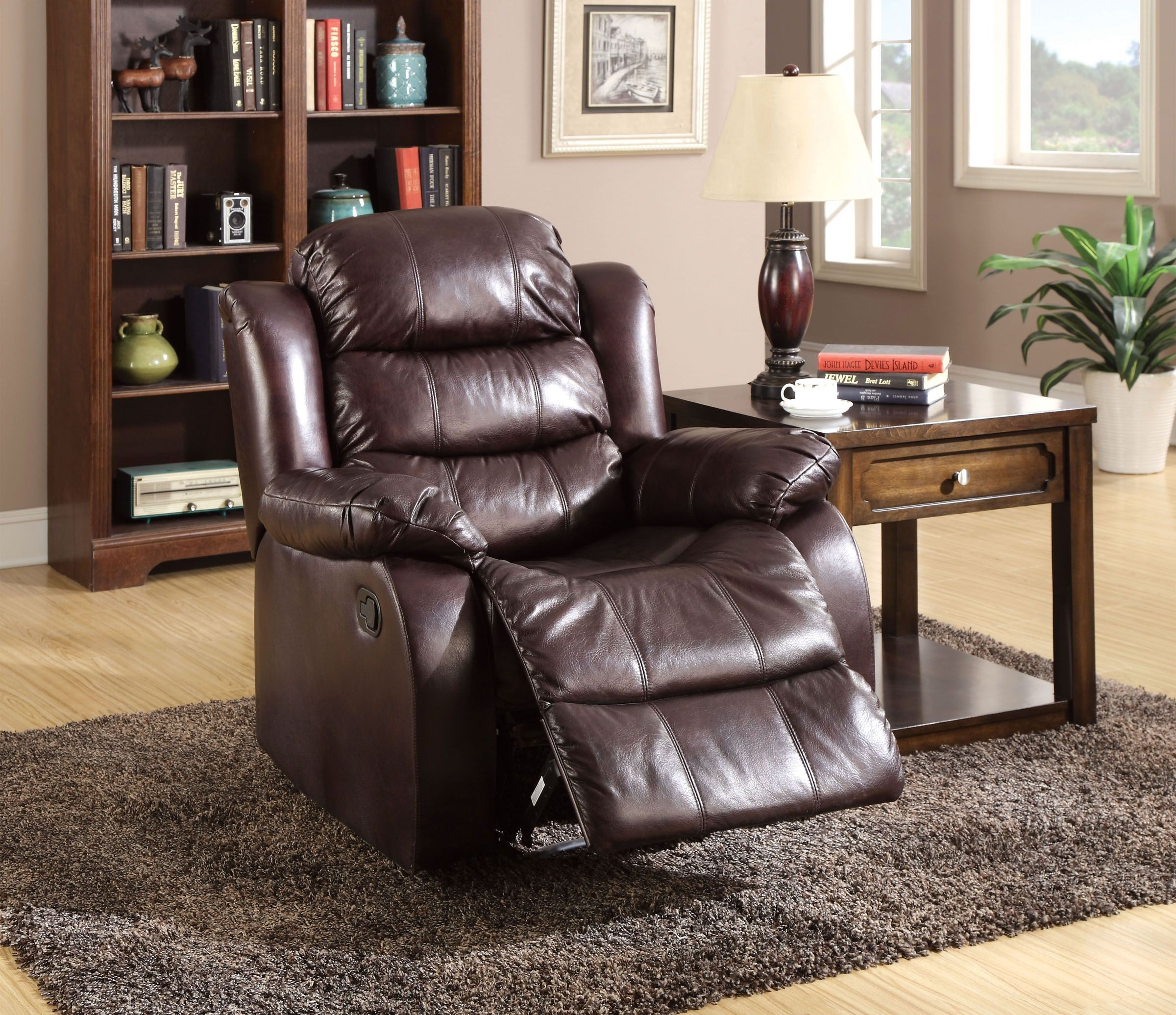 Furniture Of America Living Room Collections: Berkshire Rustic Brown Reclining Living Room Set From