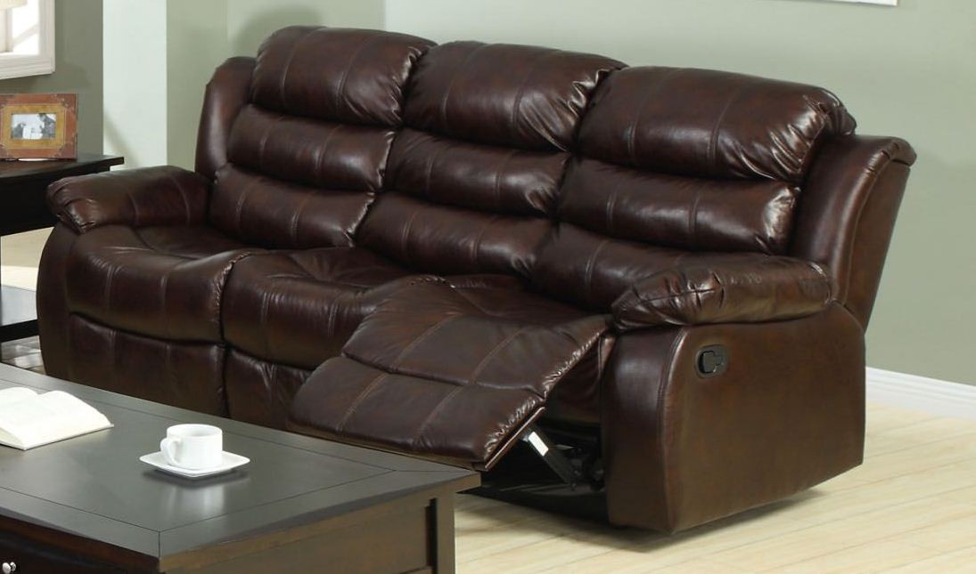 Berkshire Rustic Brown Reclining Sofa From Furniture Of