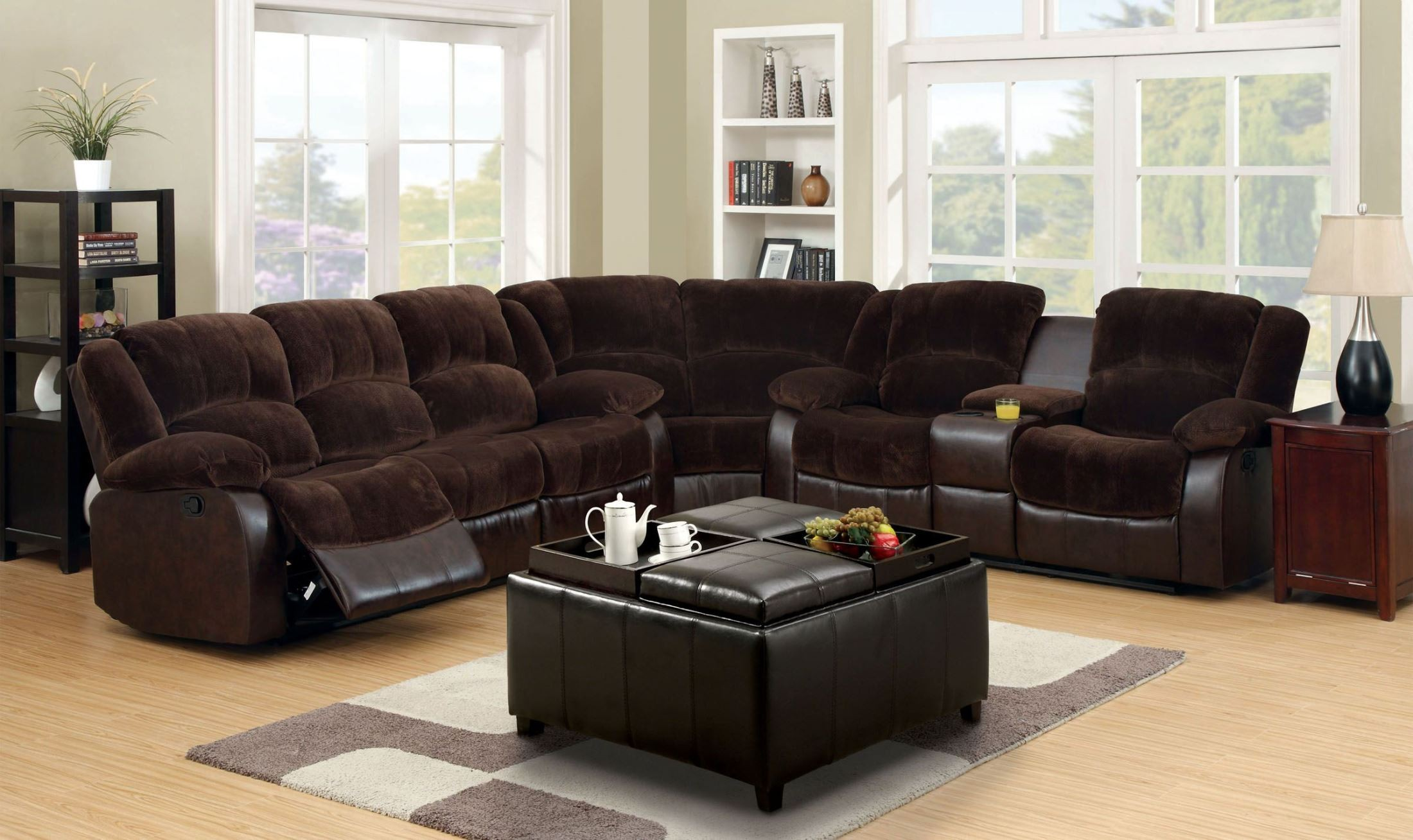Winchester Brown Reclining Sectional From Furniture Of America Cm6556cp Section Ct Coleman