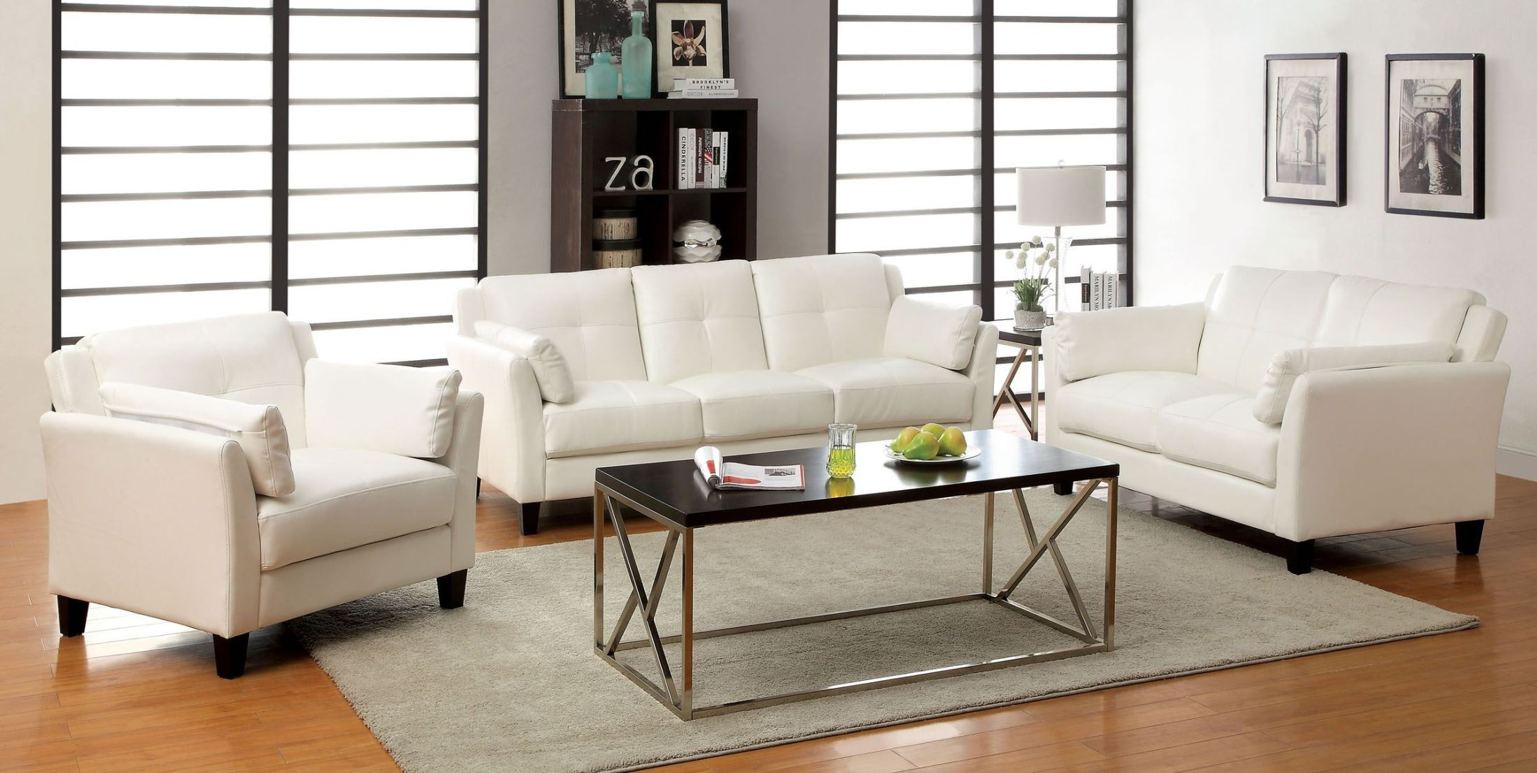 furniture of america living room pierre white living room set from furniture of america