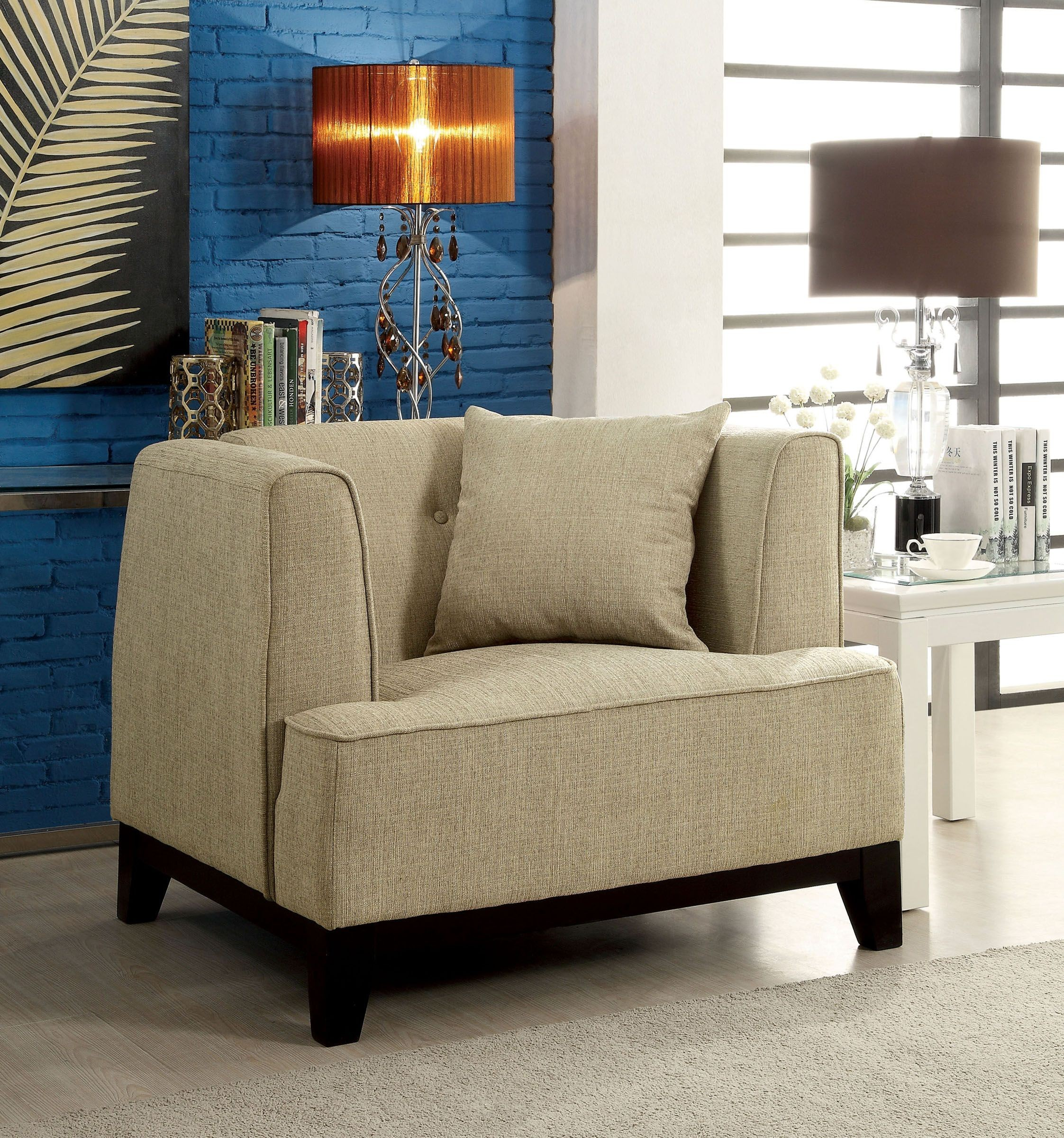 Sofia Beige Living Room Set From Furniture Of America