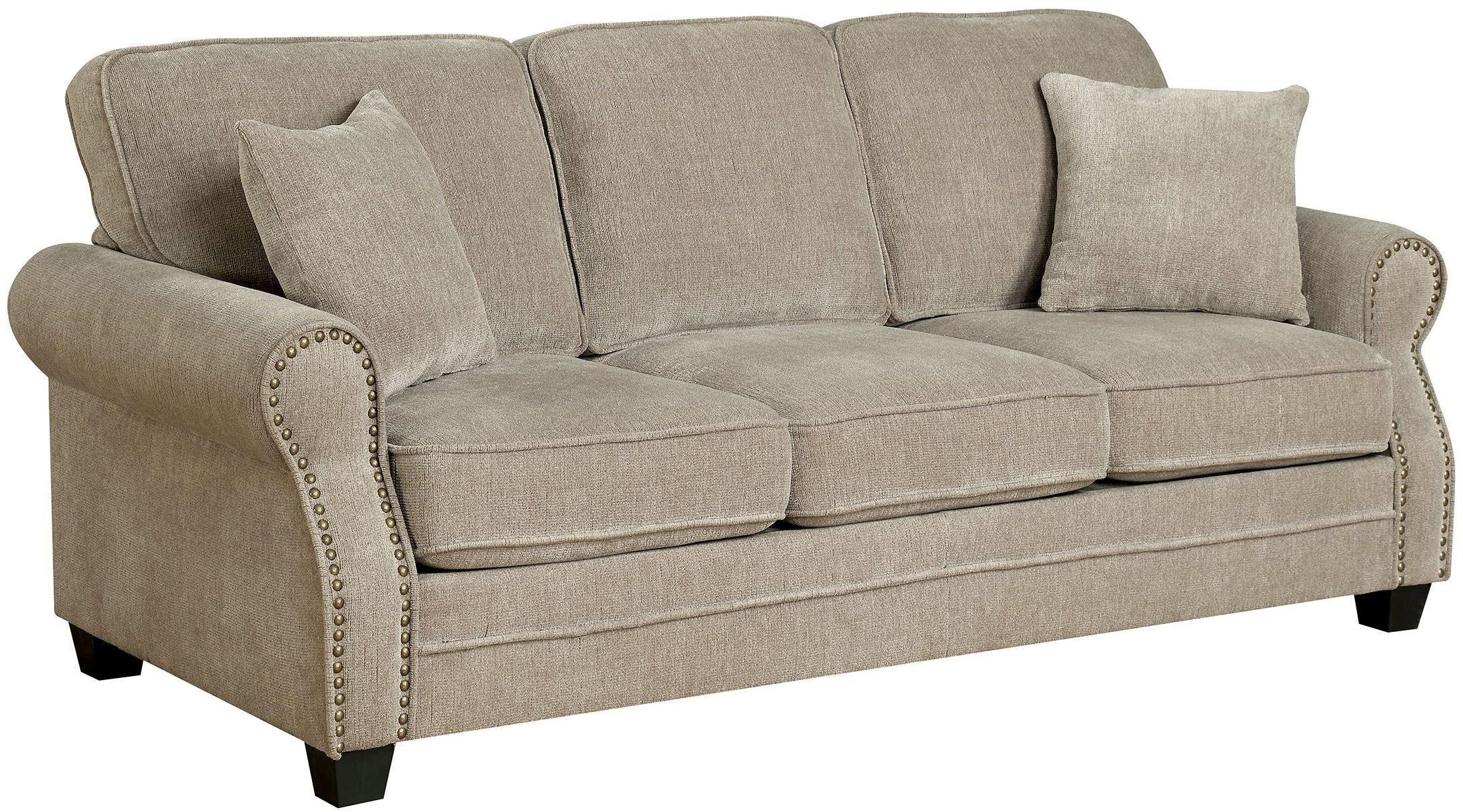 Lynne Brown Sofa from Furniture of America