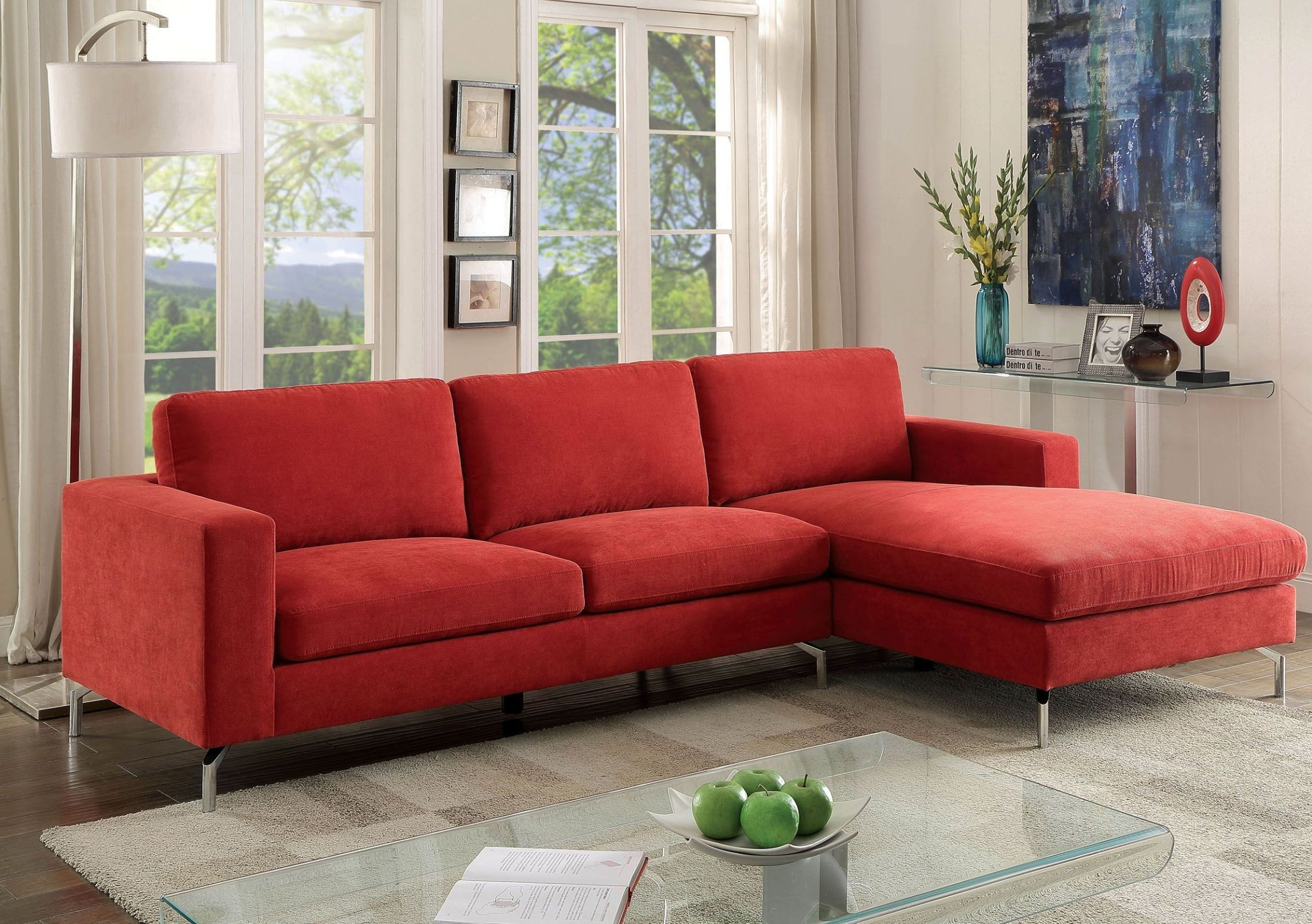 Kallie II Red Sectional from Furniture of America