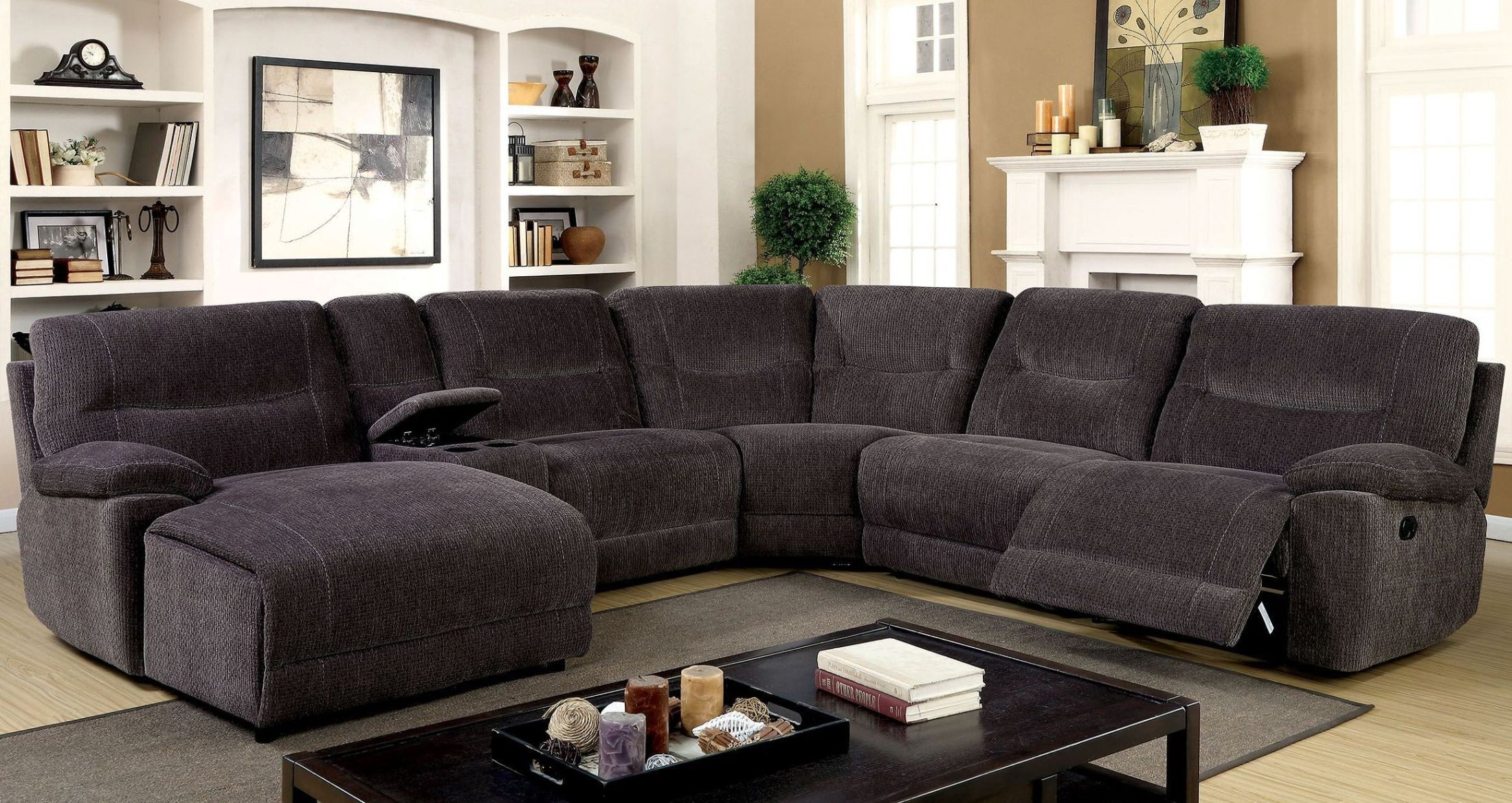 Karlee Ii Gray Reclining Sectional With Console From