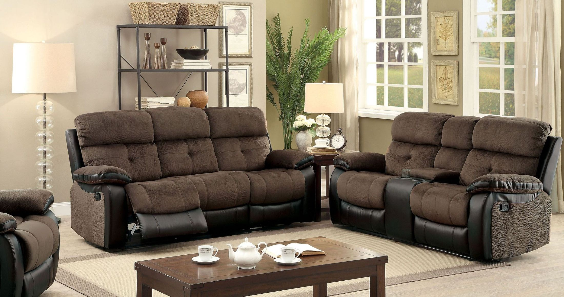 Hadley I Espresso Reclining Living Room Set From Furniture