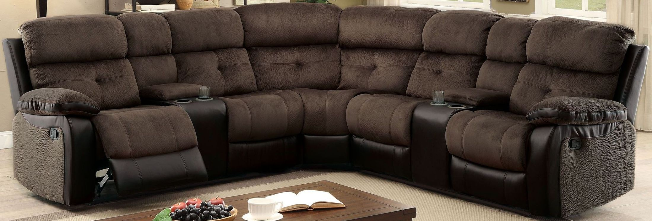 100 berkshire reclining sectional sofa in american made lea