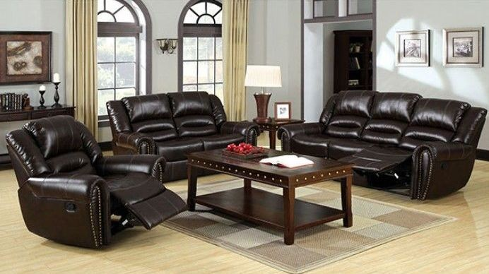 Dudhope Bonded Leather Reclining Living Room Set From Furniture Of America