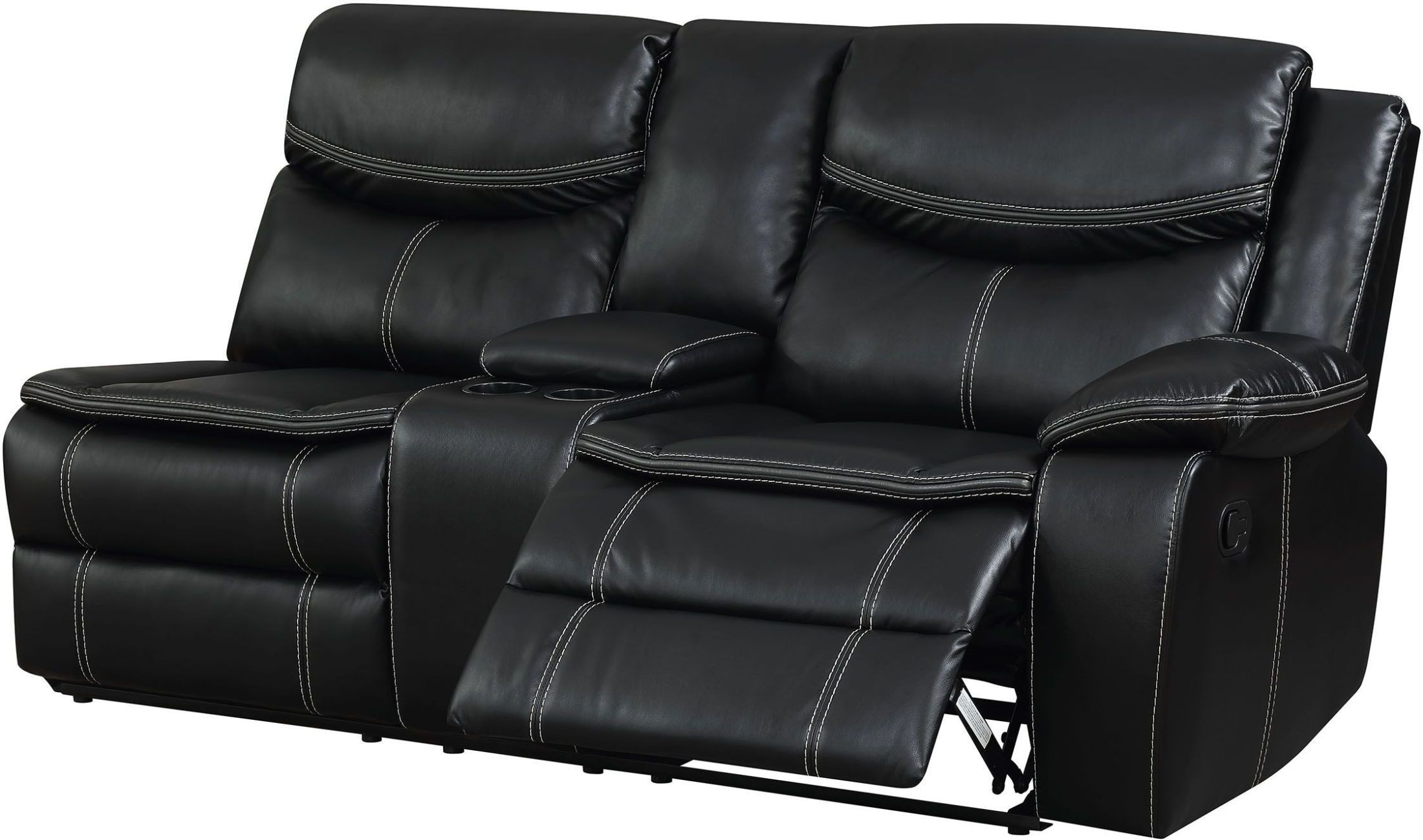 Gatria II Black Reclining Sectional With Console from Furniture of