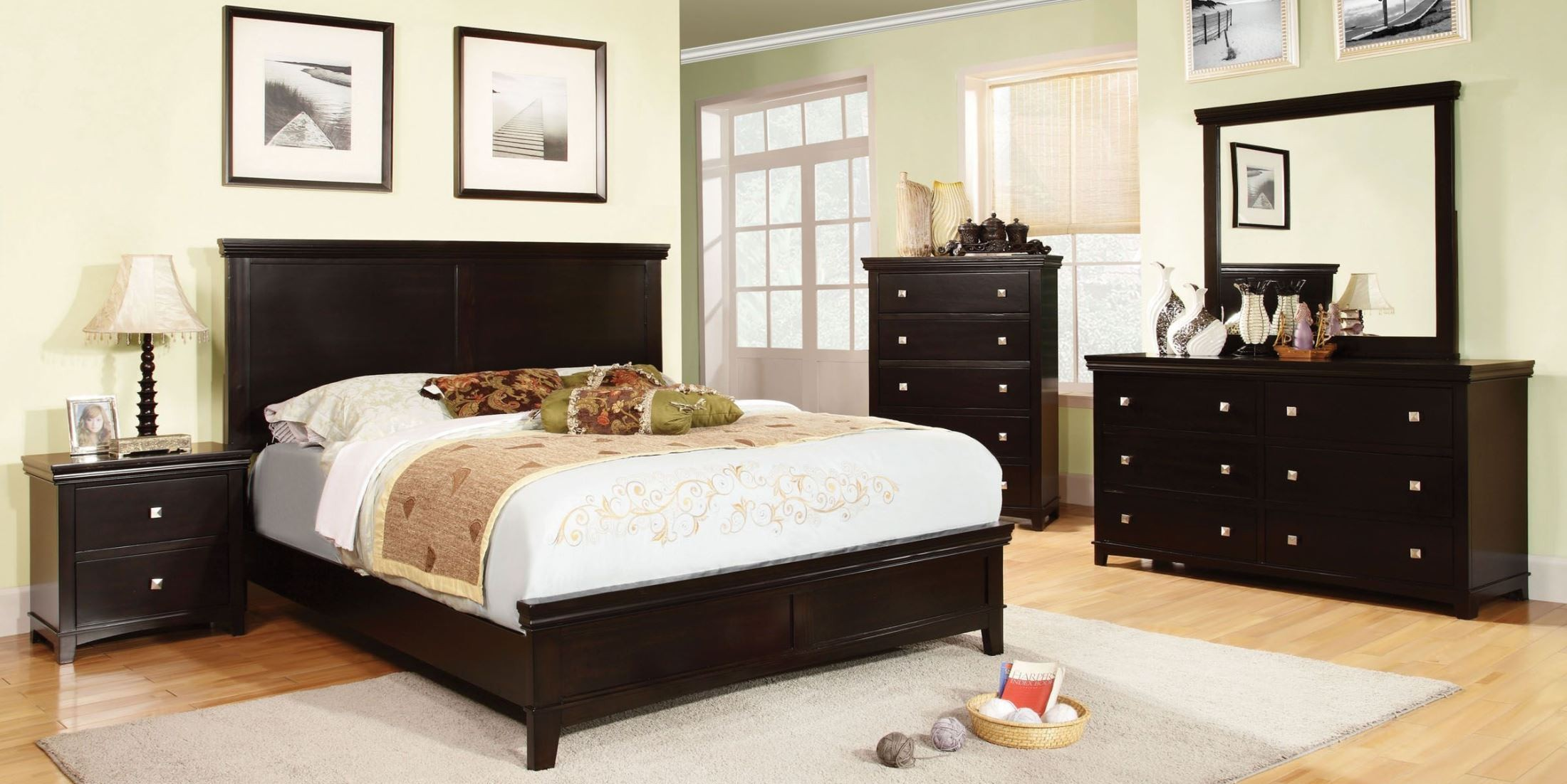 Spruce espresso youth panel bedroom set from furniture of for Youth bedroom furniture