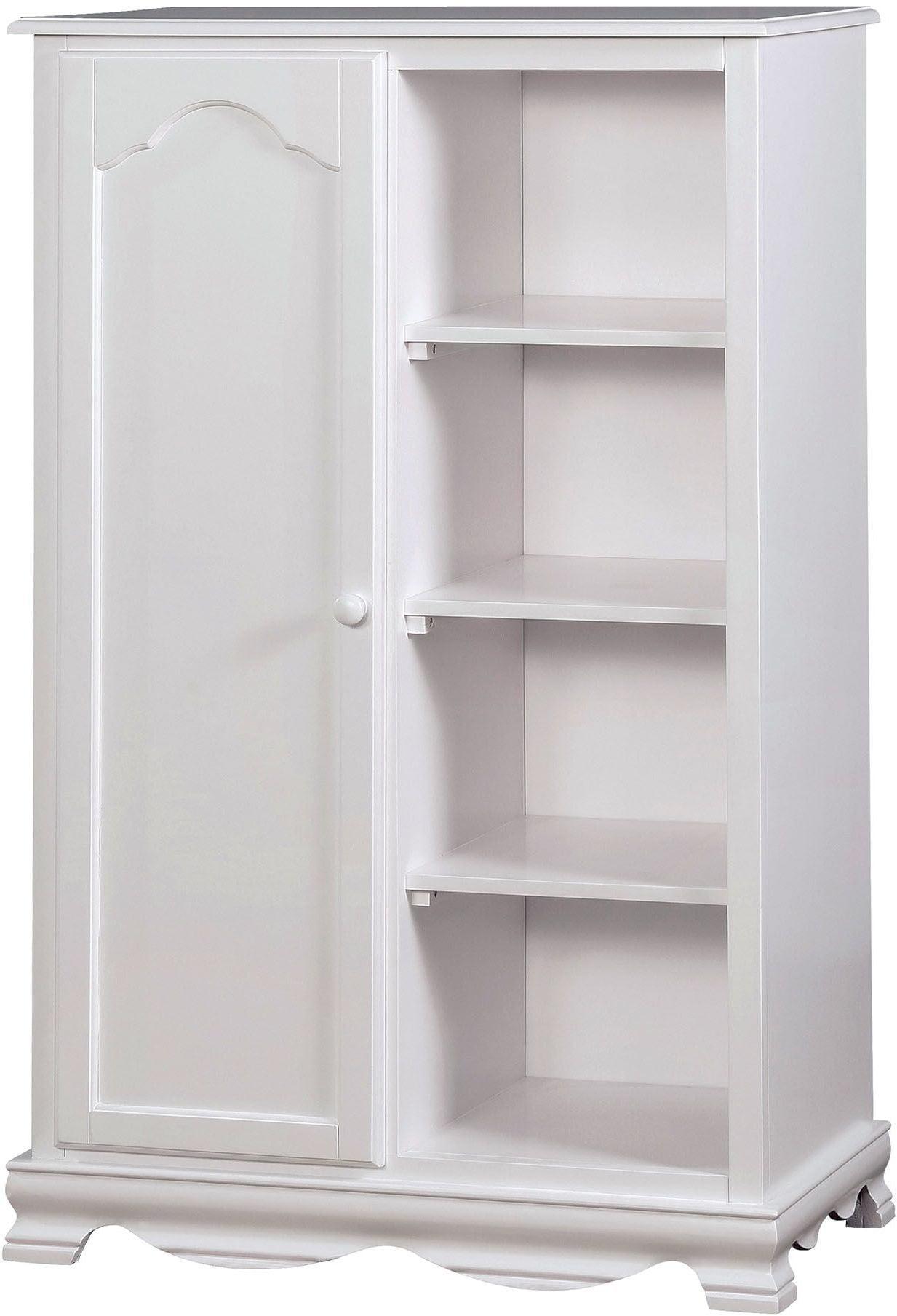 Dani White Closet Storage Cabinet From Furniture Of America  # Muebles Luan Arbo