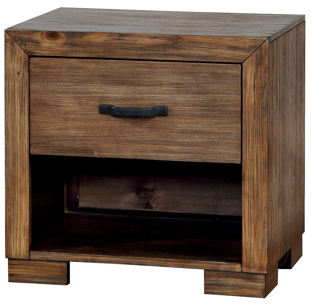 Bairro Reclaimed Pine Wood Nightstand Cm7250n Furniture