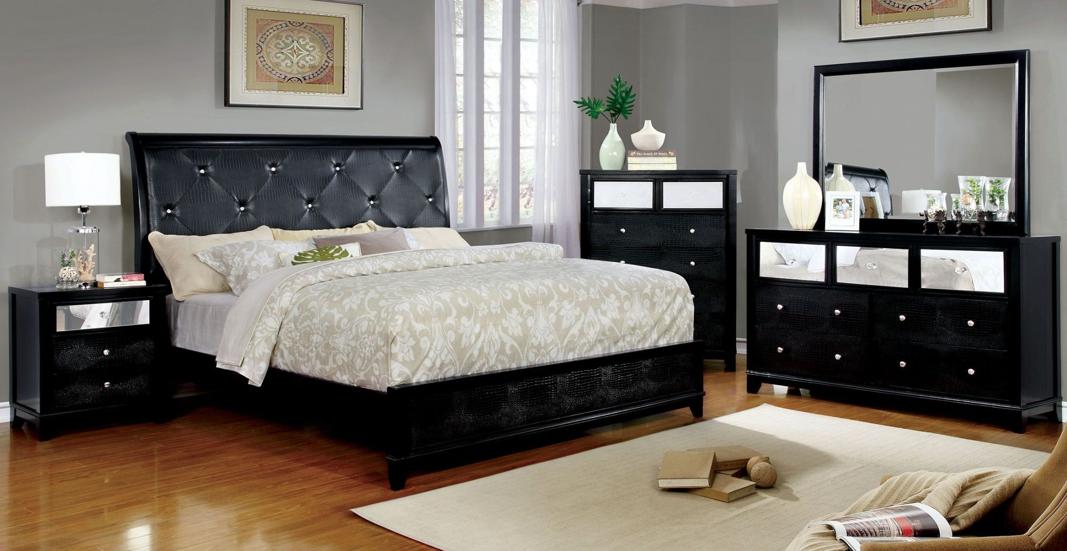 Bryant II Black Dresser from Furniture of America