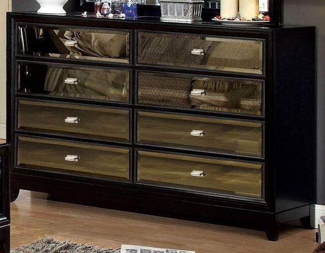 golva black 6 drawer dresser from furniture of america cm7295d coleman furniture. Black Bedroom Furniture Sets. Home Design Ideas