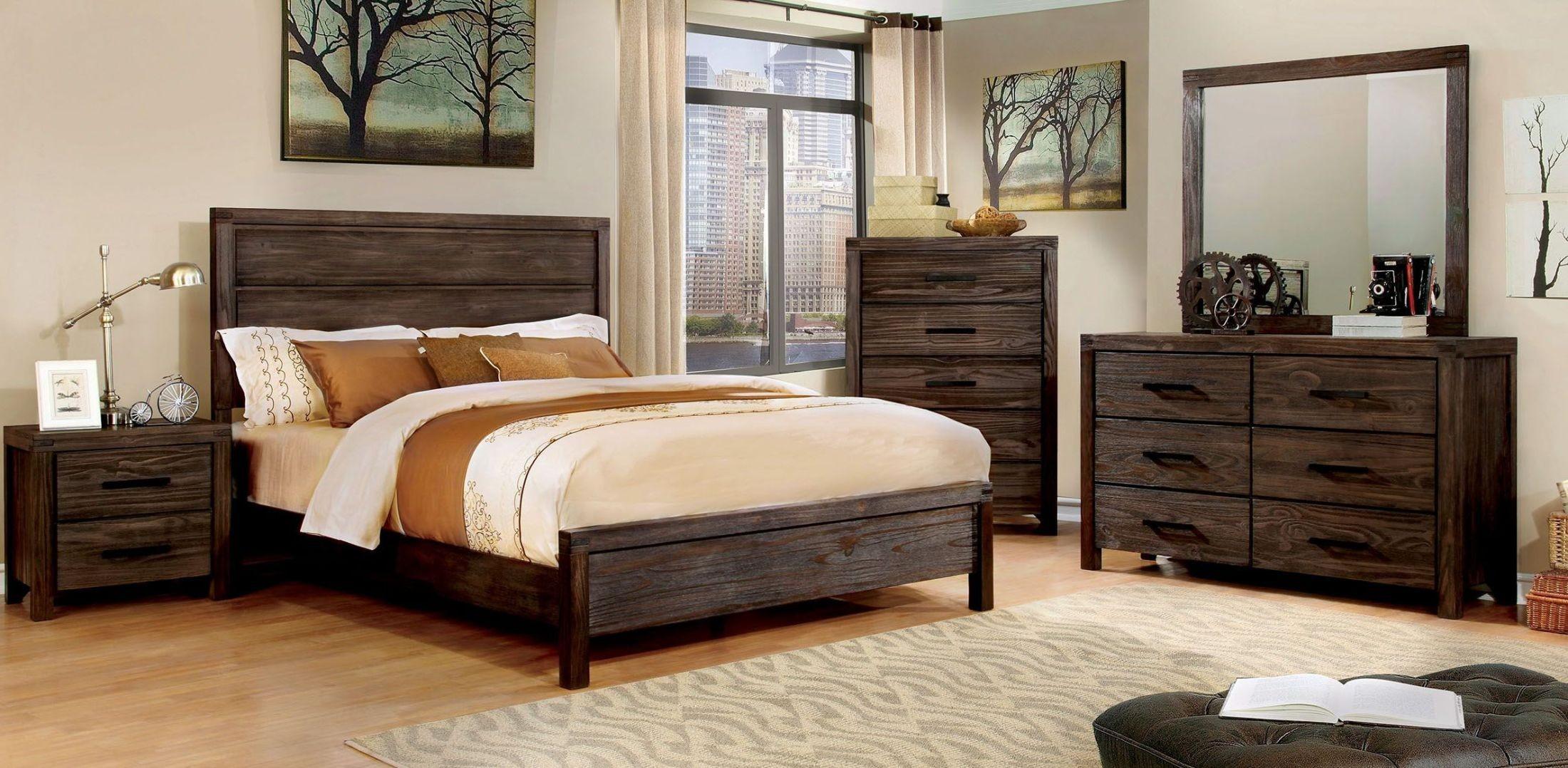 Rexburg Dark Gray Panel Bedroom Set From Furniture Of