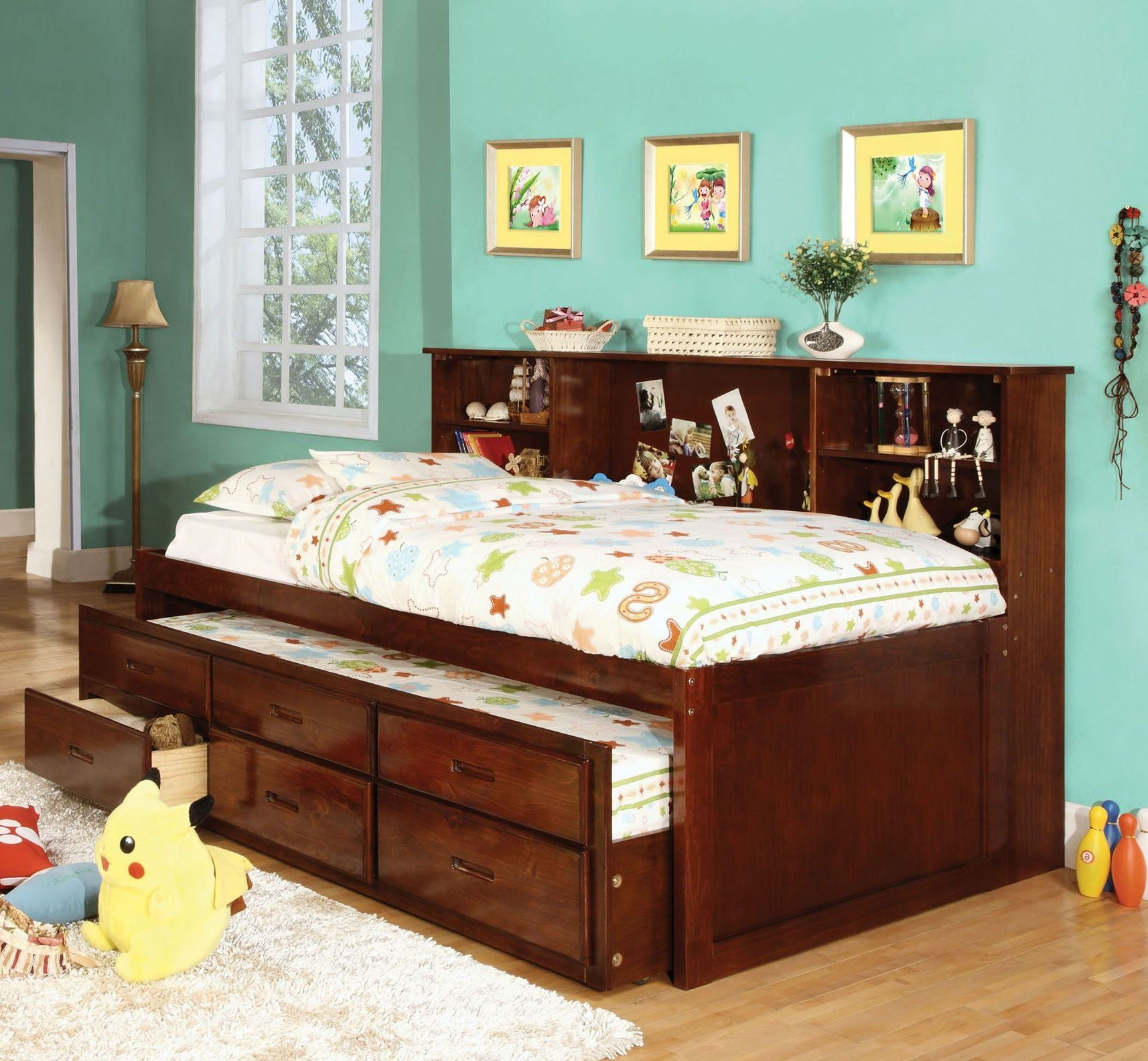 Hervey Captain Twin Trundle Storage Bed From Furniture Of