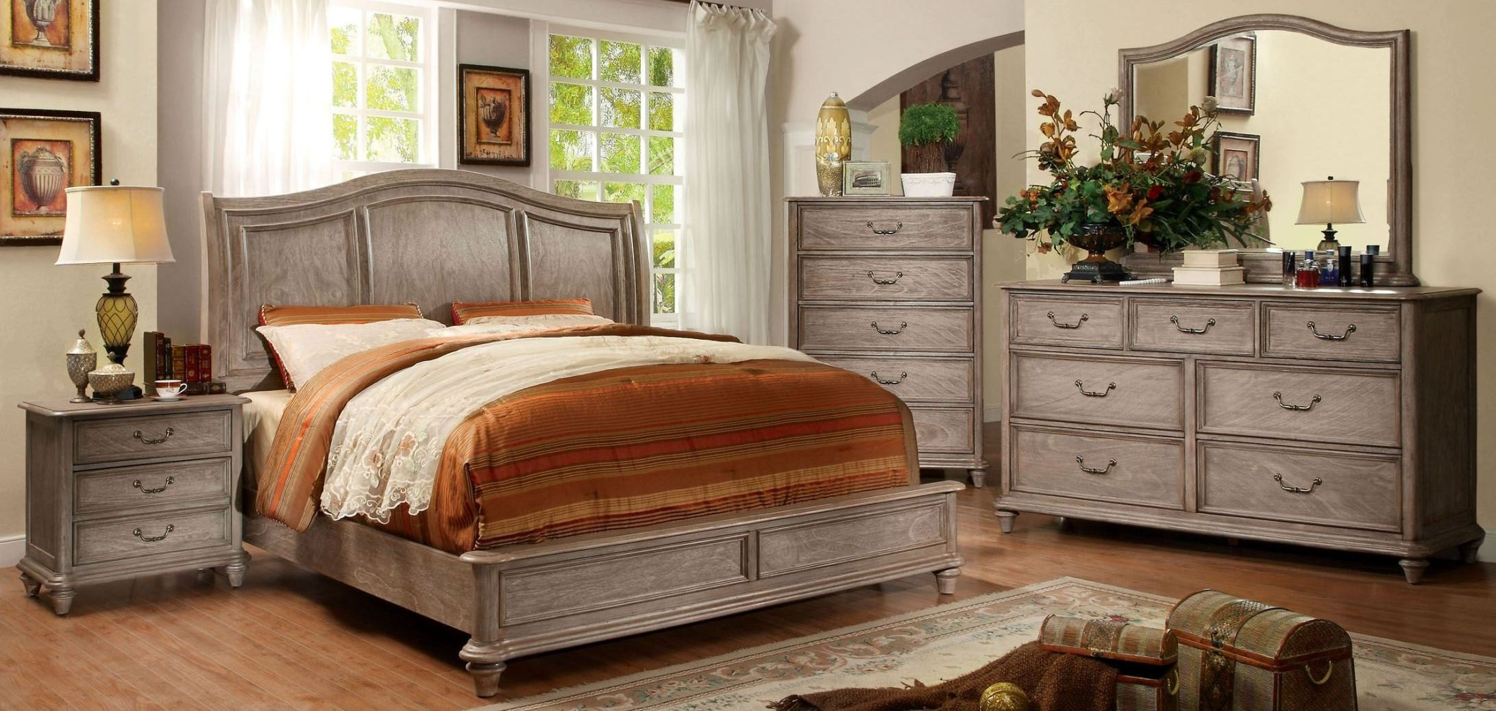 Belgrade ii rustic natural tone bedroom set from furniture