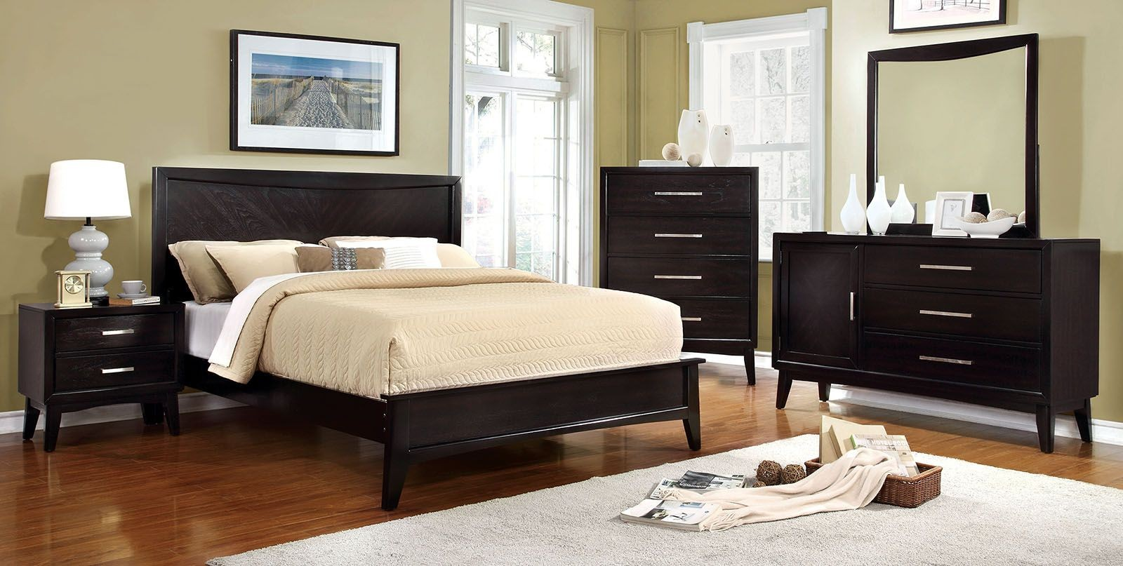 Snyder Espresso Bedroom Set From Furniture Of America