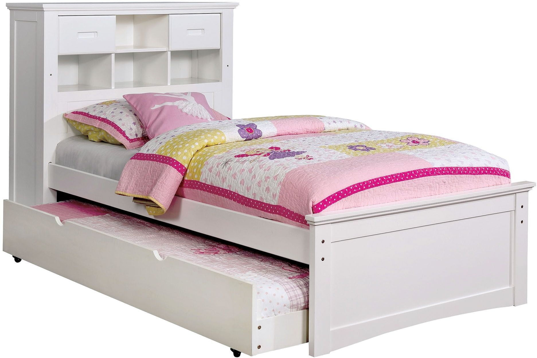 Pearland White Full Bookcase Bed From Furniture Of America