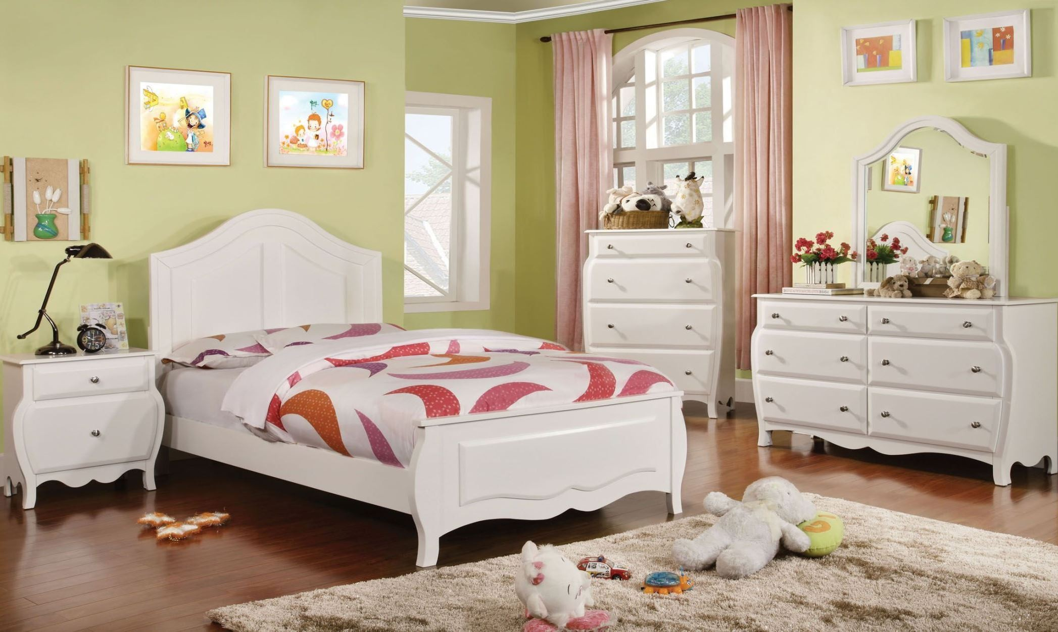 Roxana White Youth Panel Bedroom Set From Furniture Of America Cm7940t Bed Coleman Furniture