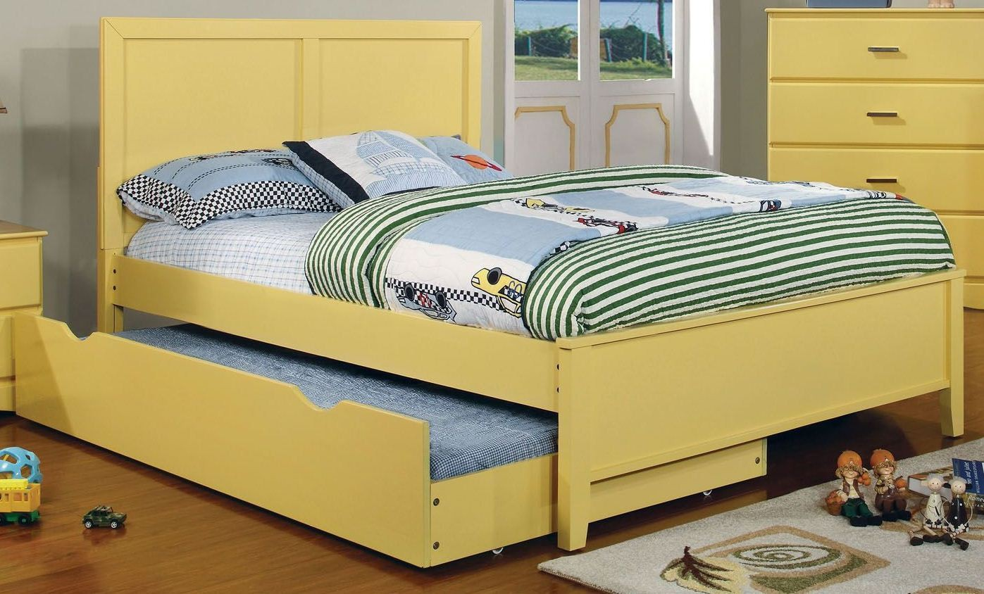 prismo yellow youth platform bedroom set from furniture of 13888 | cm7941ywb 1