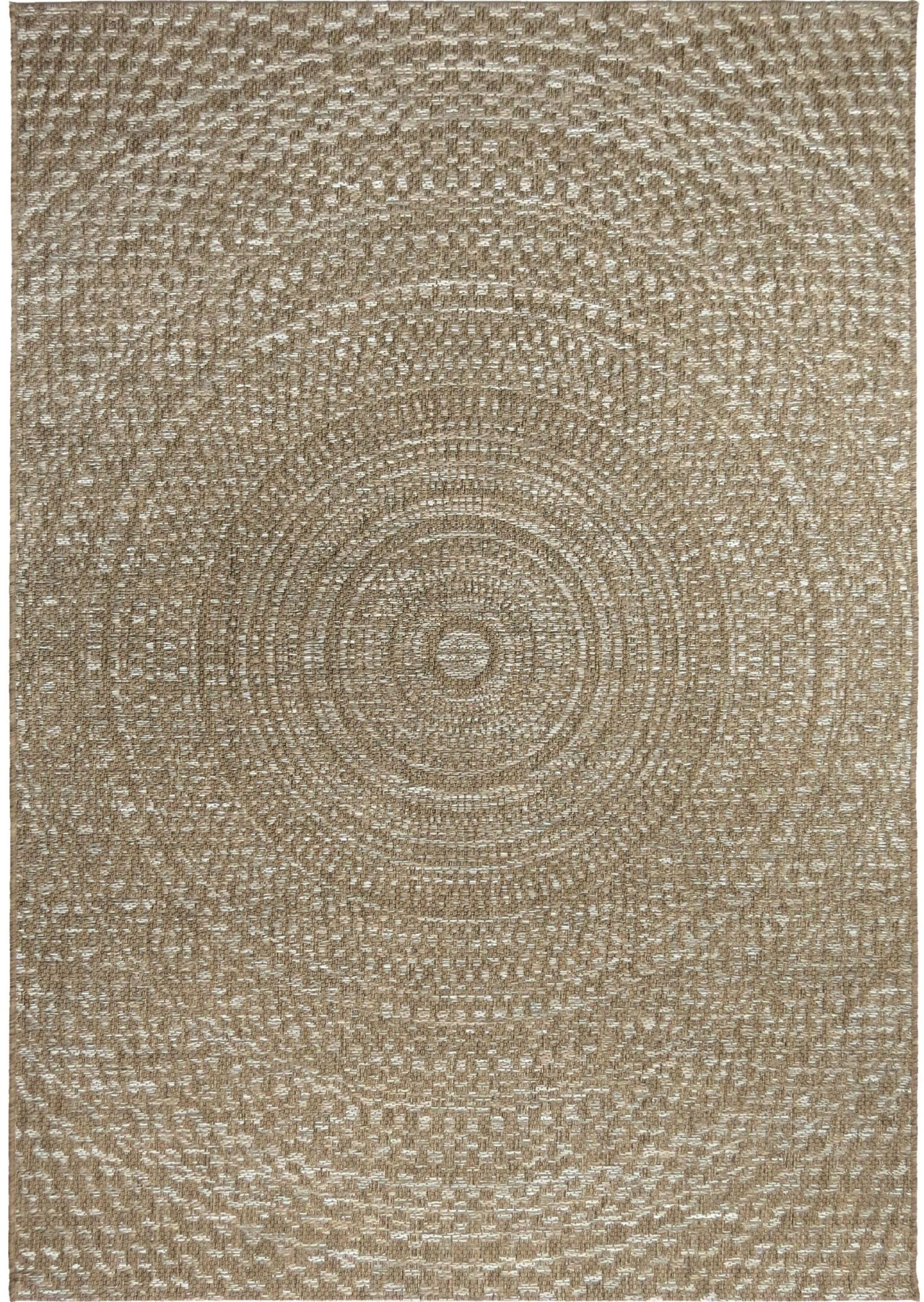 Breeze Indoor Outdoor Circles Cerulean Gray And Brown
