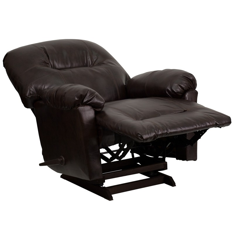 Bentley Brown Leather Chaise Rocker Recliner  sc 1 st  Coleman Furniture : chaise rocker - Sectionals, Sofas & Couches