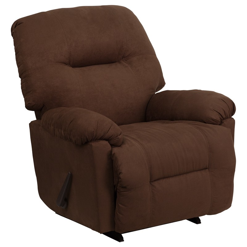 Calcutta chocolate microfiber chaise rocker recliner from for Chaise and recliner