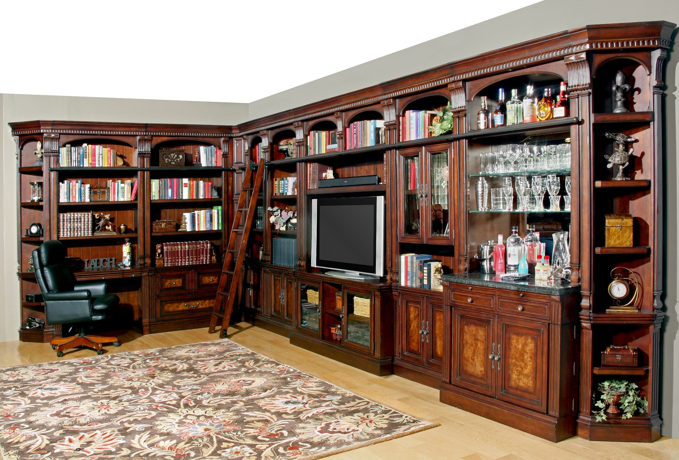 Corsica Large Entertainment Bar Wall Unit From Parker