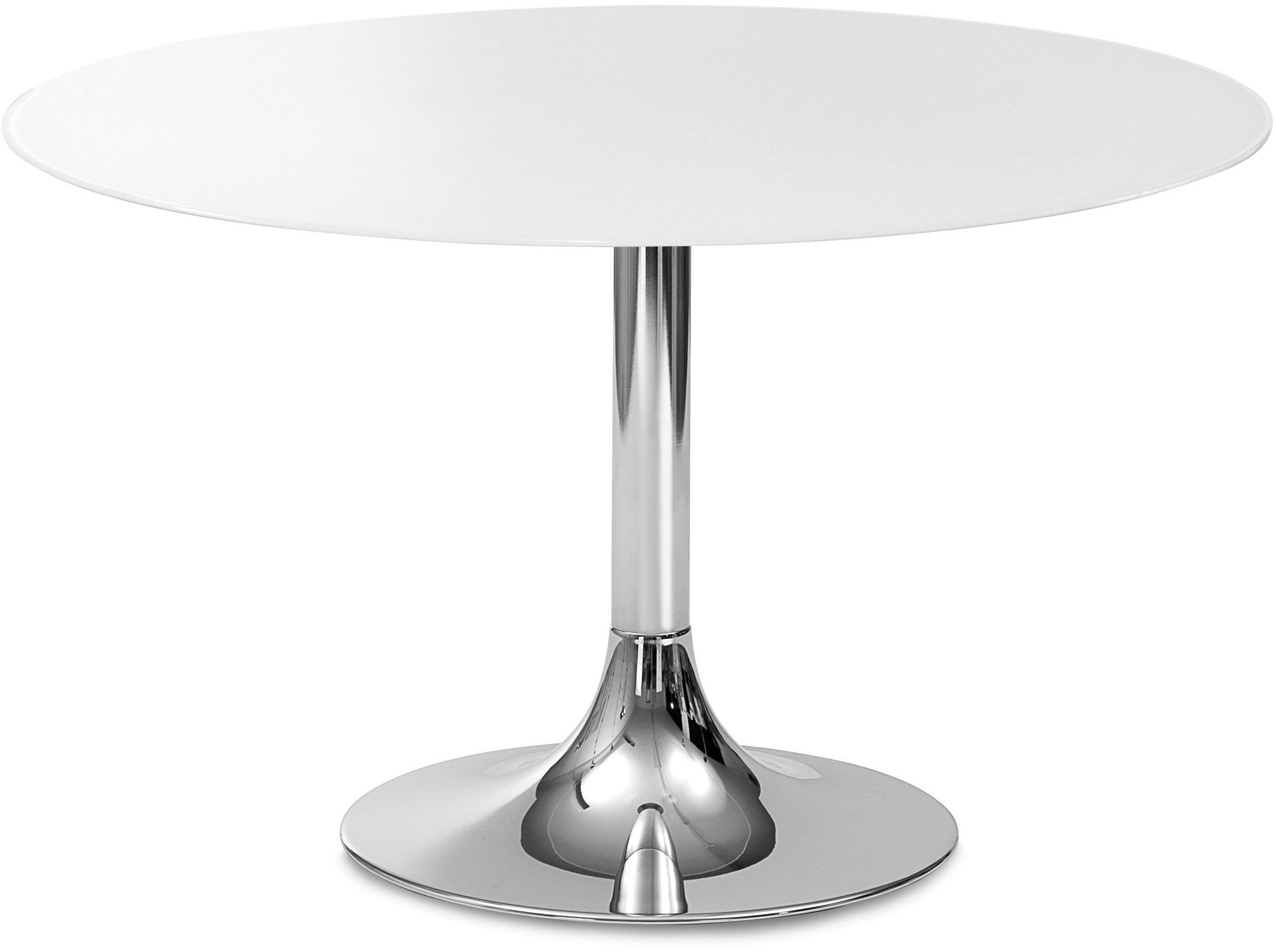 Corona 120 white glass round dining table from domitalia coleman furniture White round dining table
